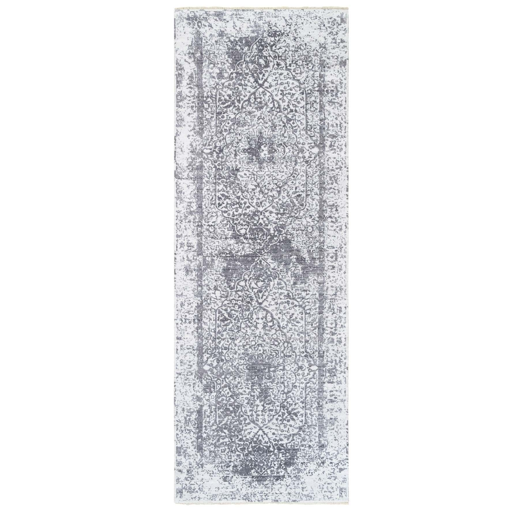 Transitional Hand Knotted Grey Rug No: 1124734