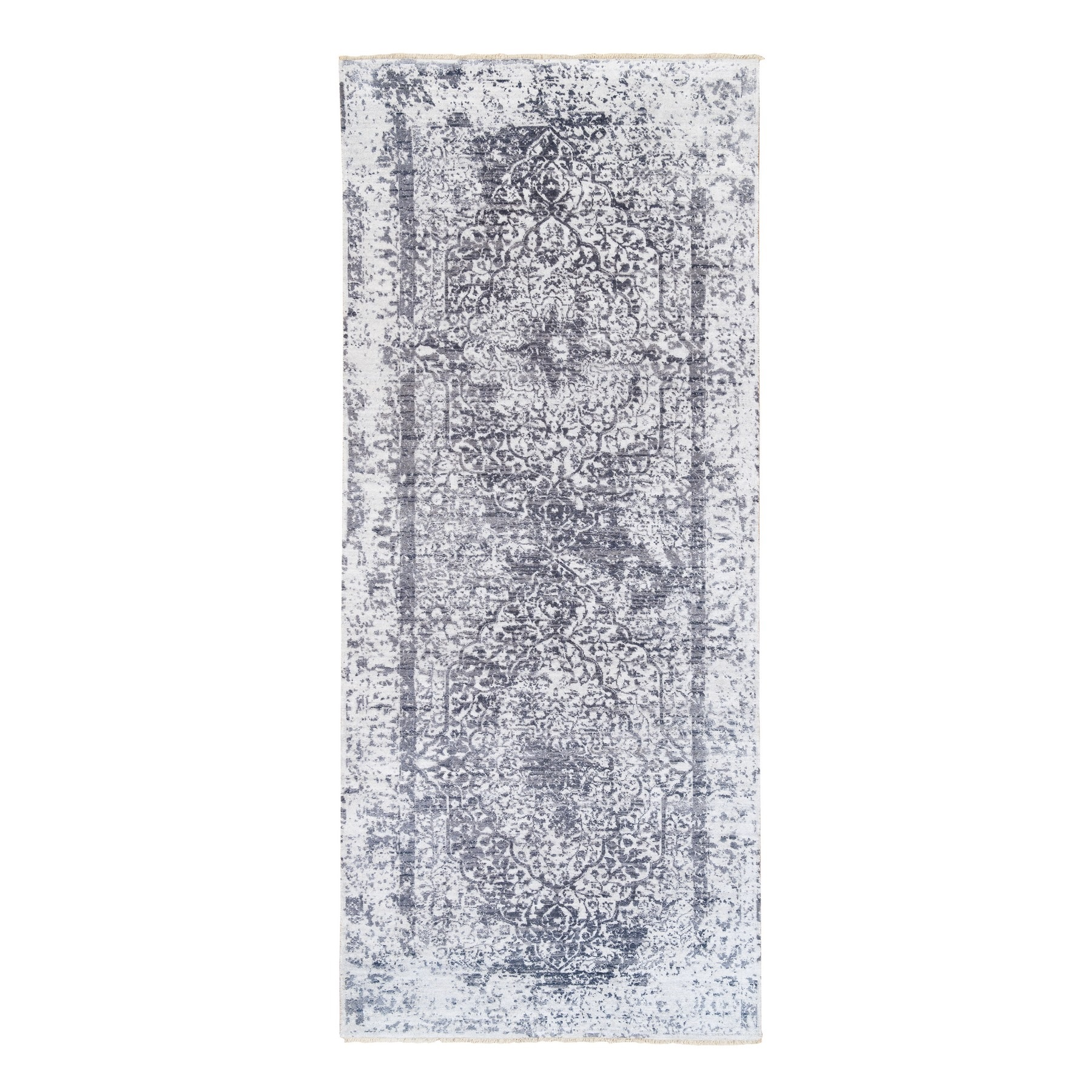 Transitional Hand Knotted Grey Rug No: 1124710