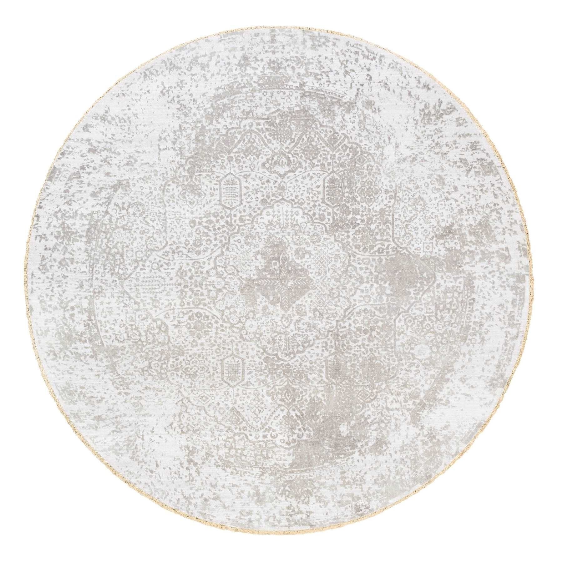 Transitional Hand Knotted Ivory Rug No: 1124736