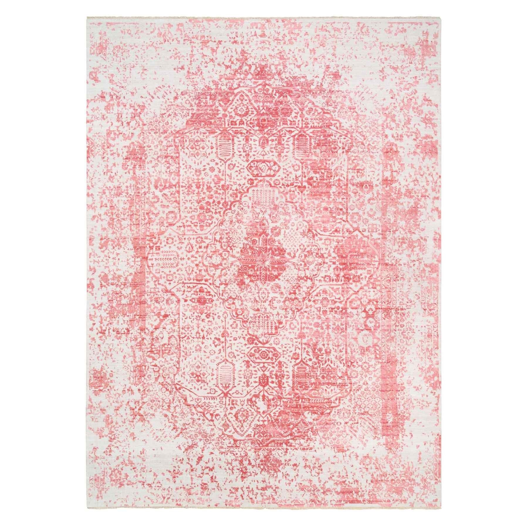 Transitional Hand Knotted Ivory Rug No: 1124740
