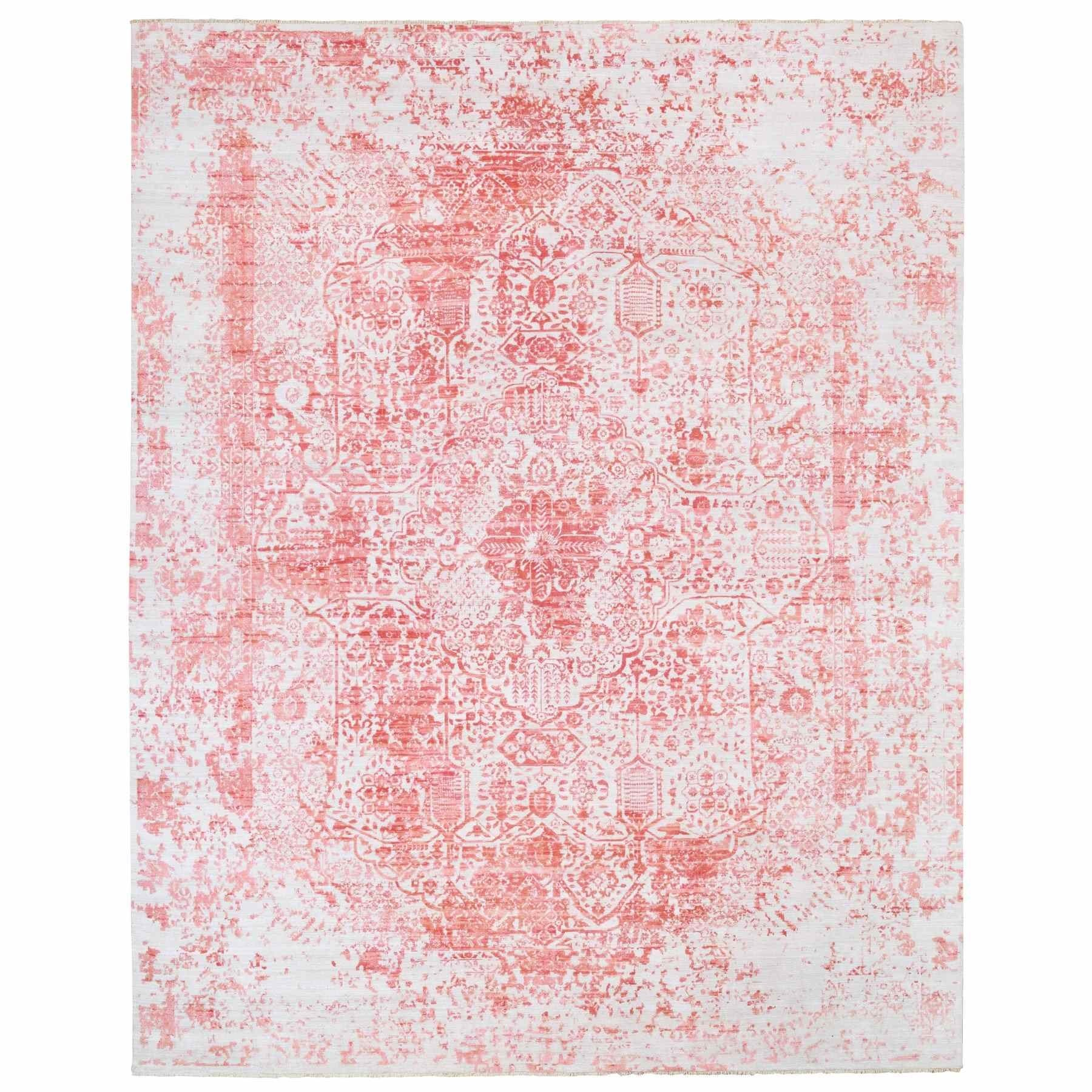 Transitional Hand Knotted Ivory Rug No: 1124712