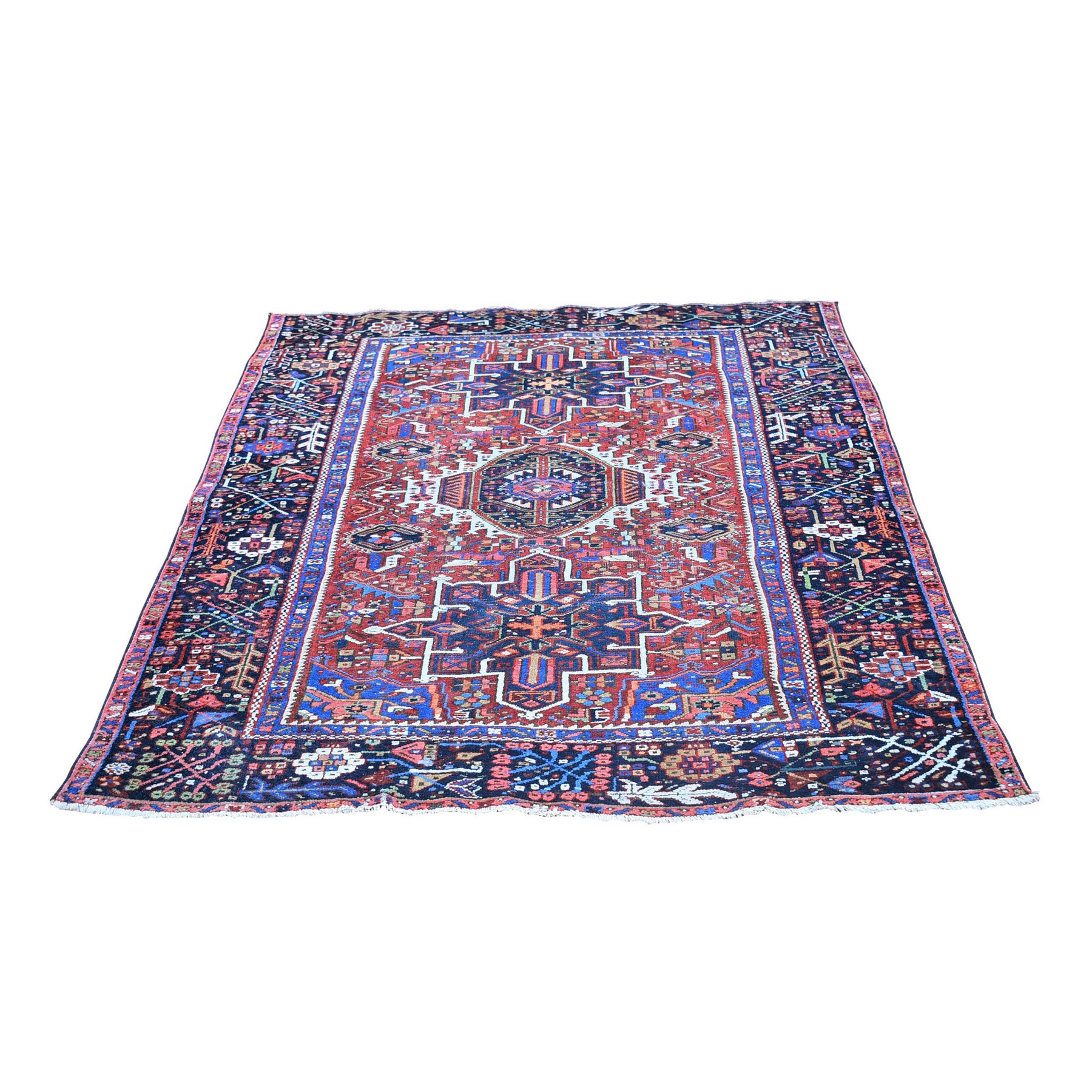 Antique Collection Hand Knotted Red Rug No: 1132776