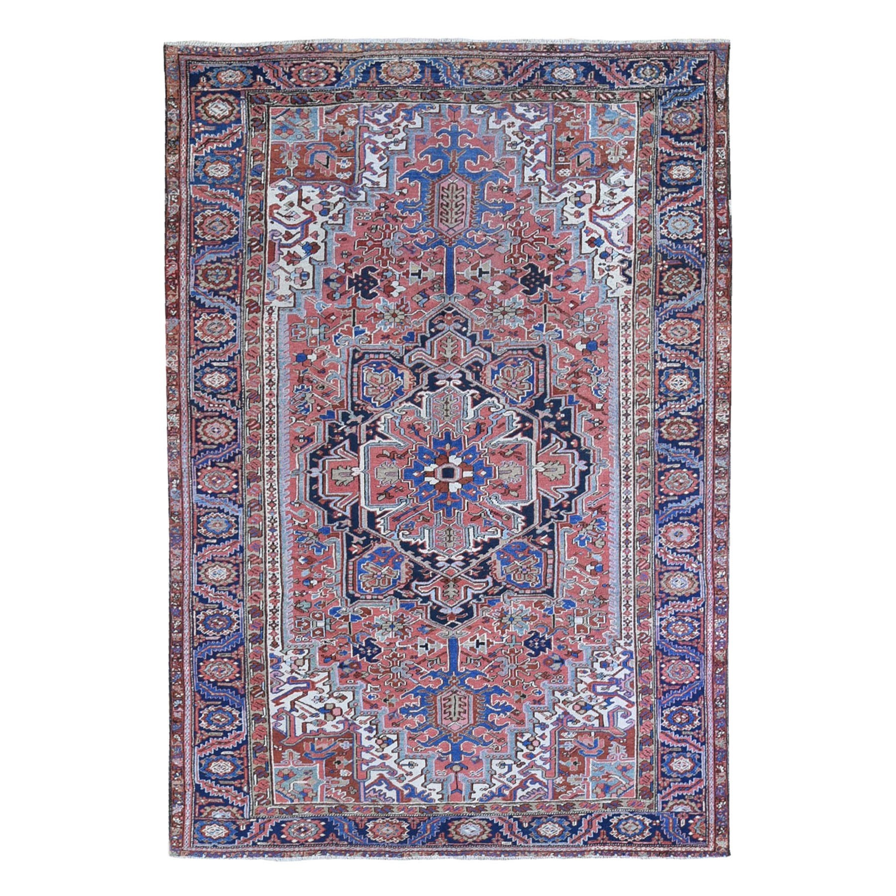 Antique Collection Hand Knotted Red Rug No: 1132916