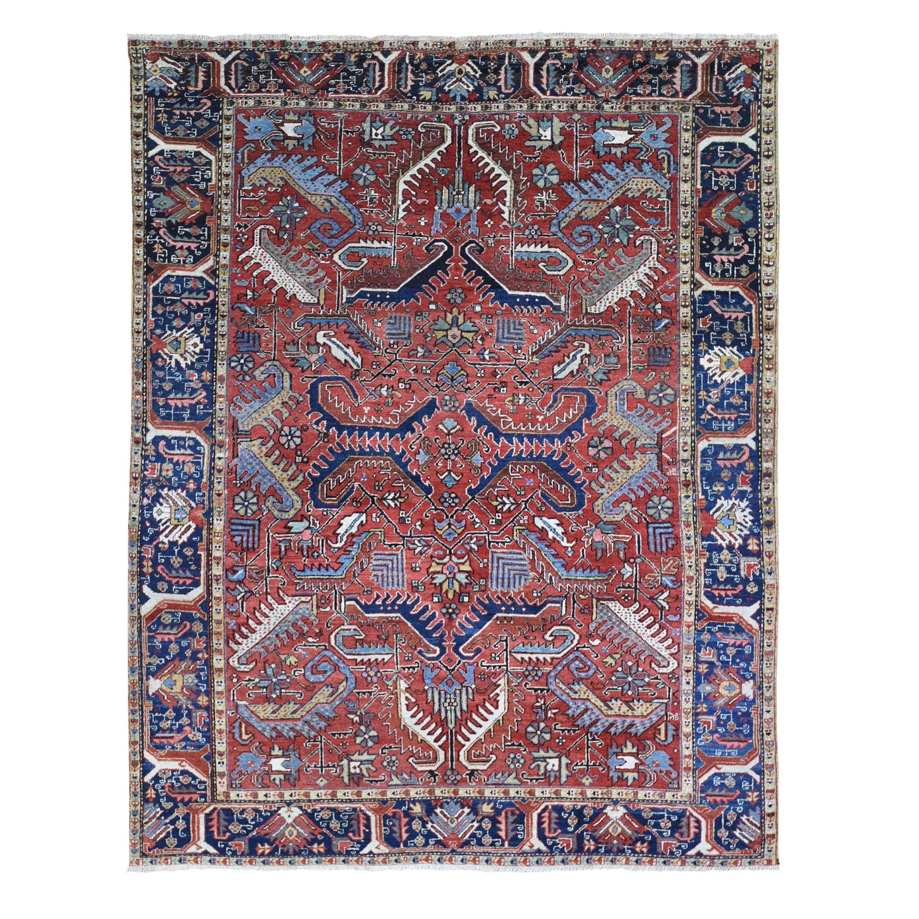 Antique Collection Hand Knotted Red Rug No: 1133012