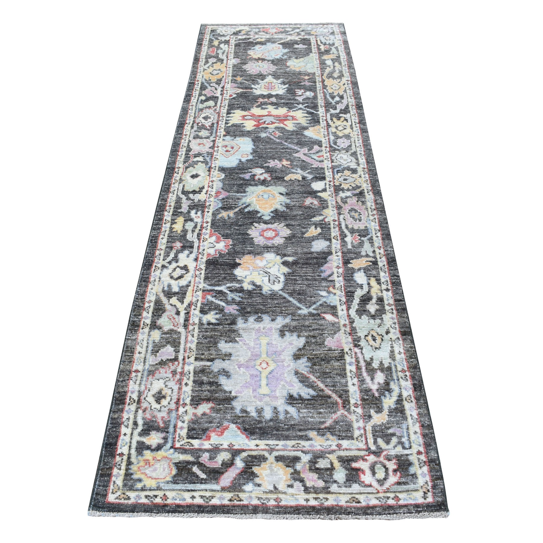 Agra And Turkish Collection Hand Knotted Black Rug No: 1113192