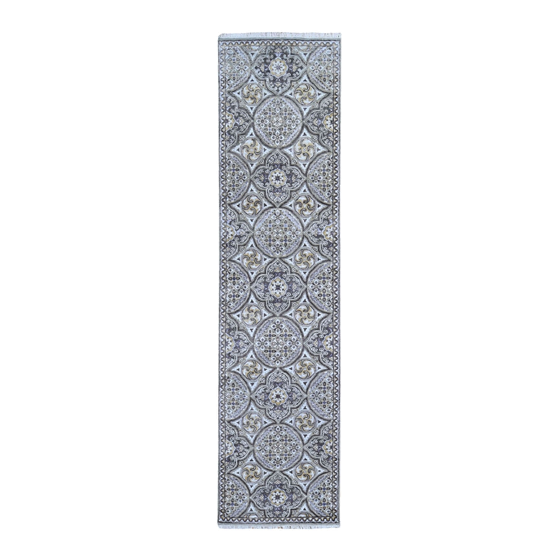 Transitional Hand Knotted Brown Rug No: 1132712