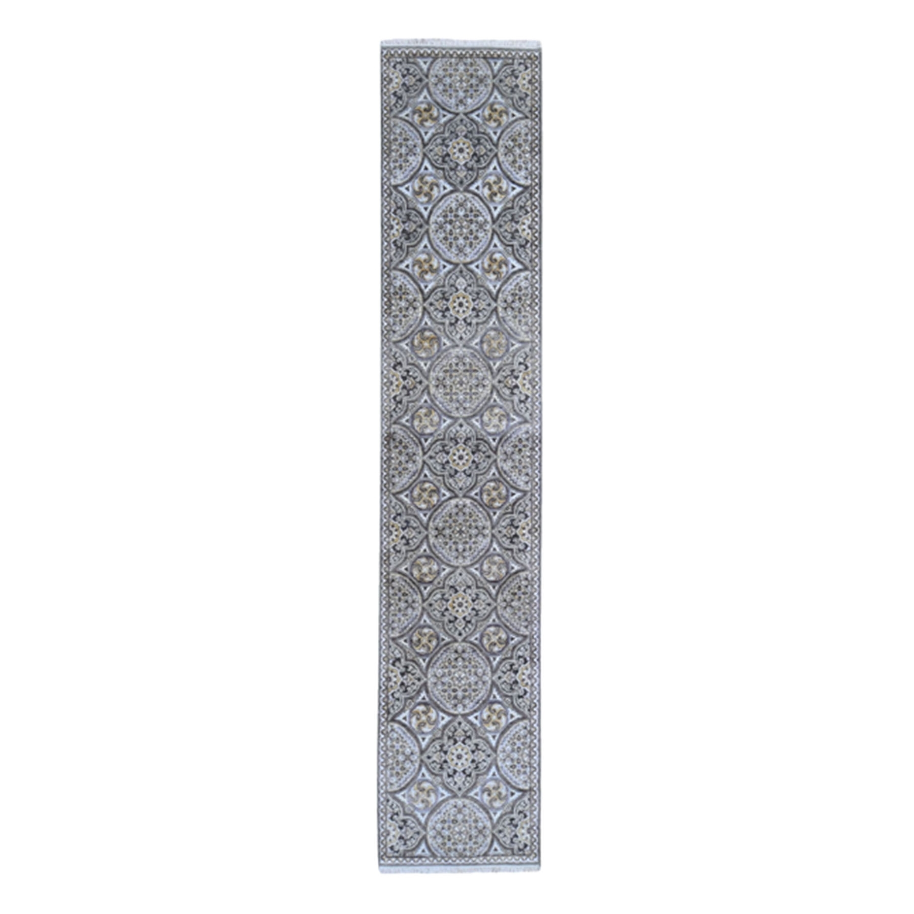 Transitional Hand Knotted Brown Rug No: 1132714