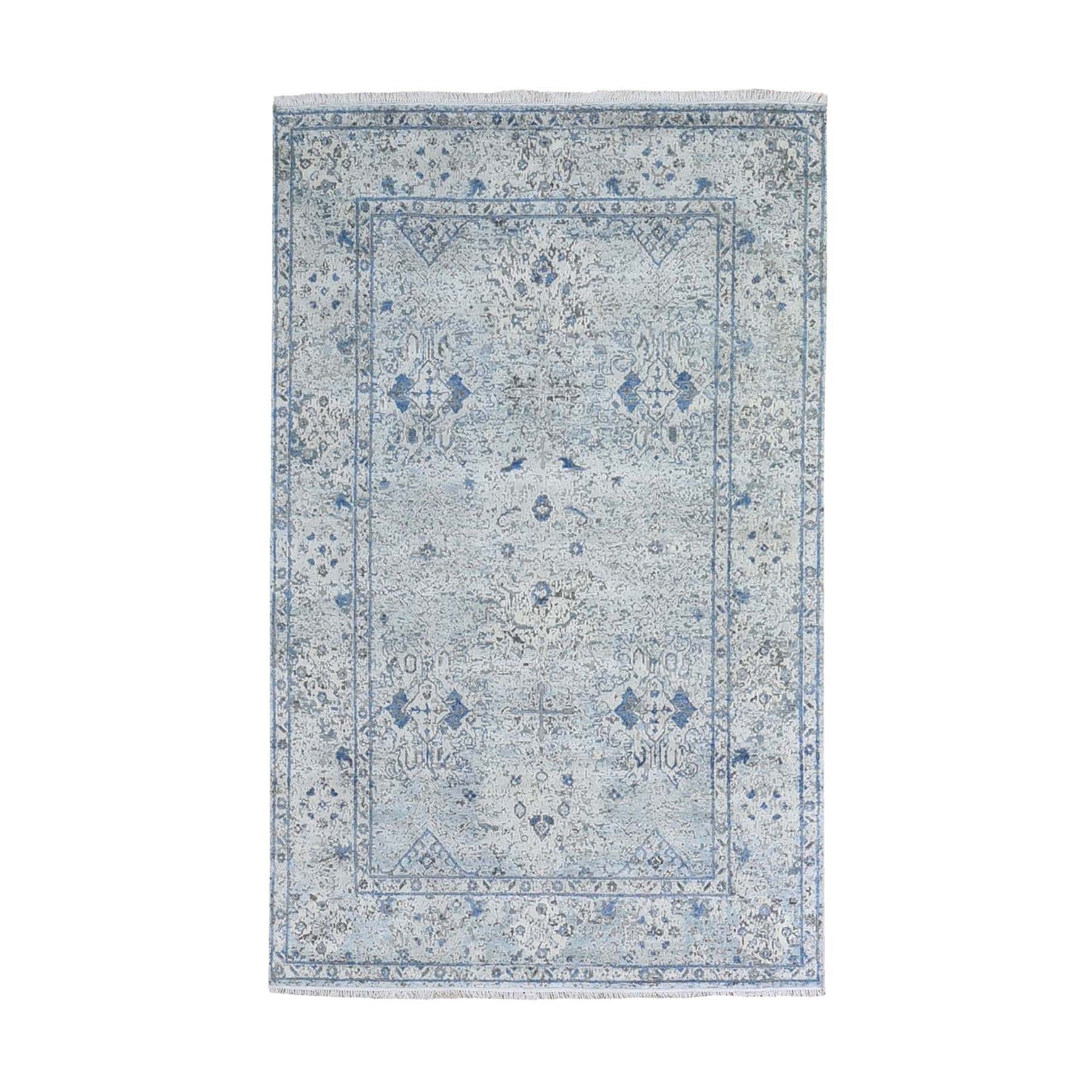Transitional Hand Knotted Ivory Rug No: 1132732