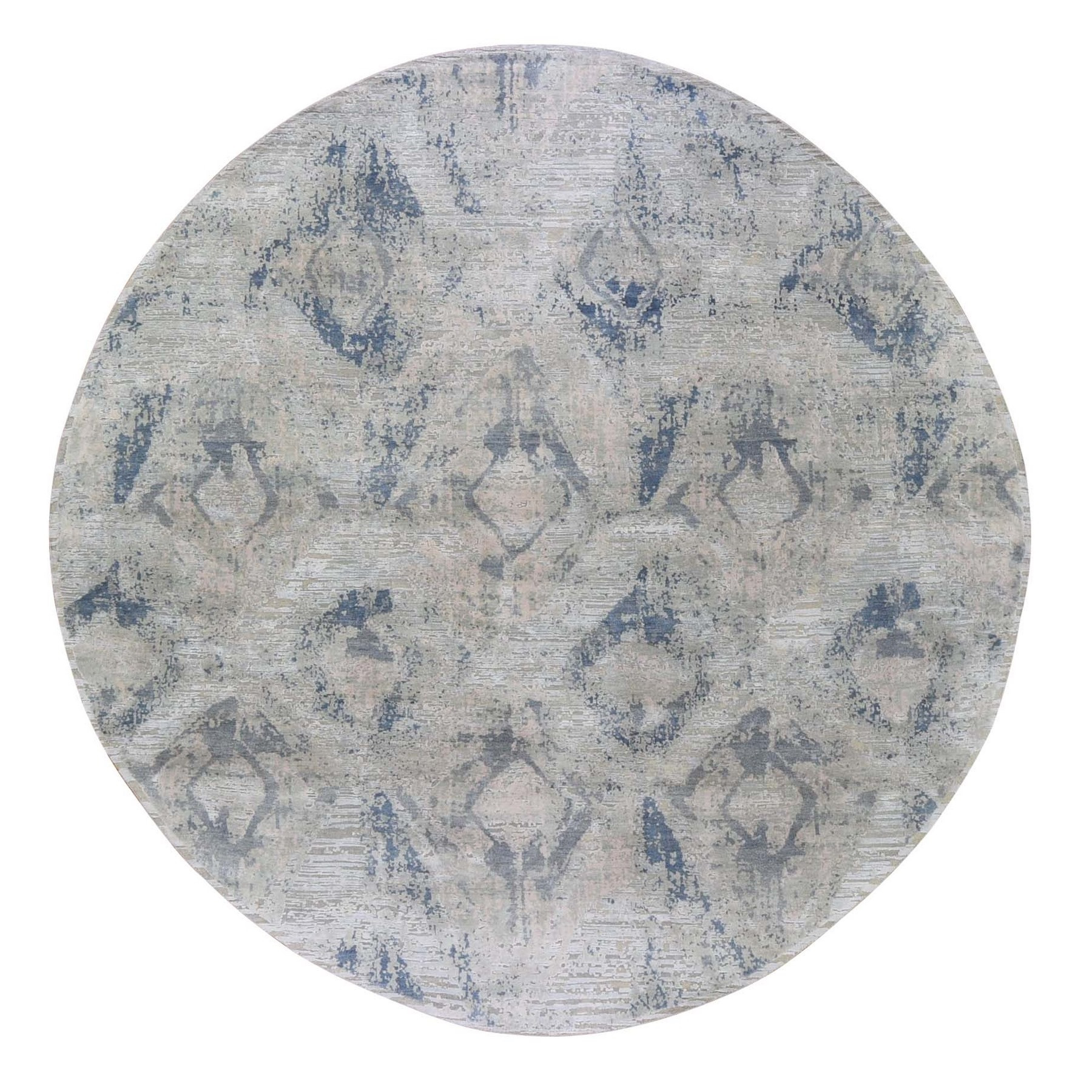 Wool and Real Silk Collection Hand Knotted Ivory Rug No: 1132760