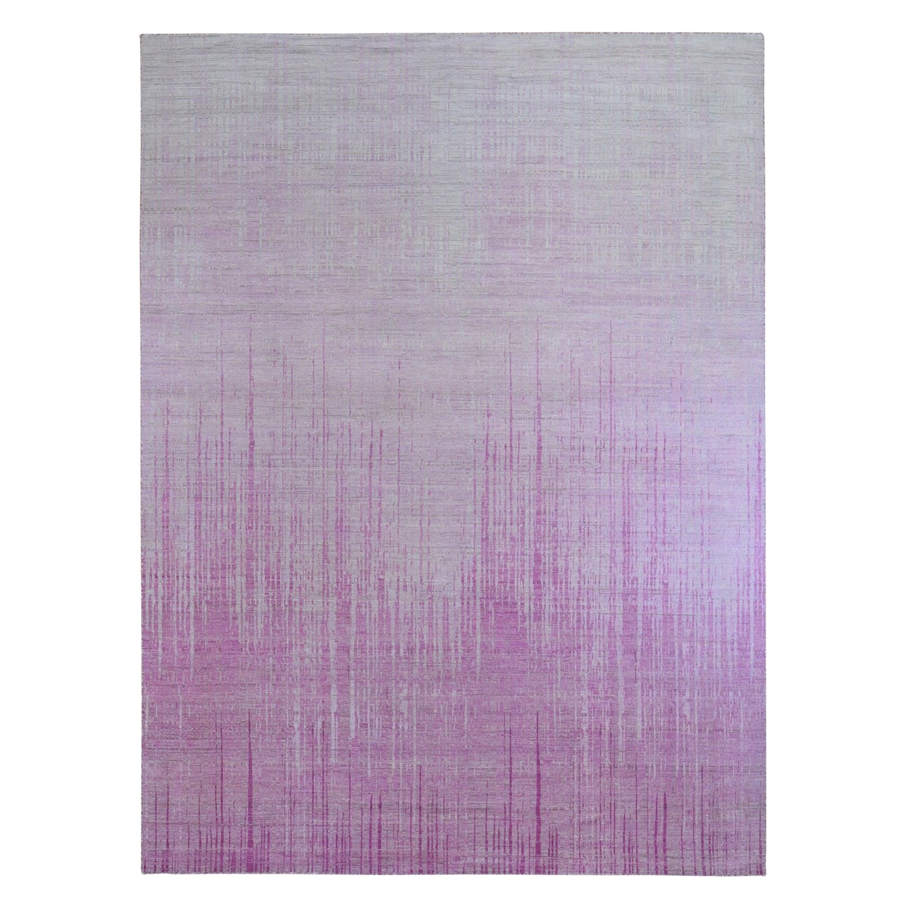 Mid Century Modern Collection Hand Knotted Pink Rug No: 1132934