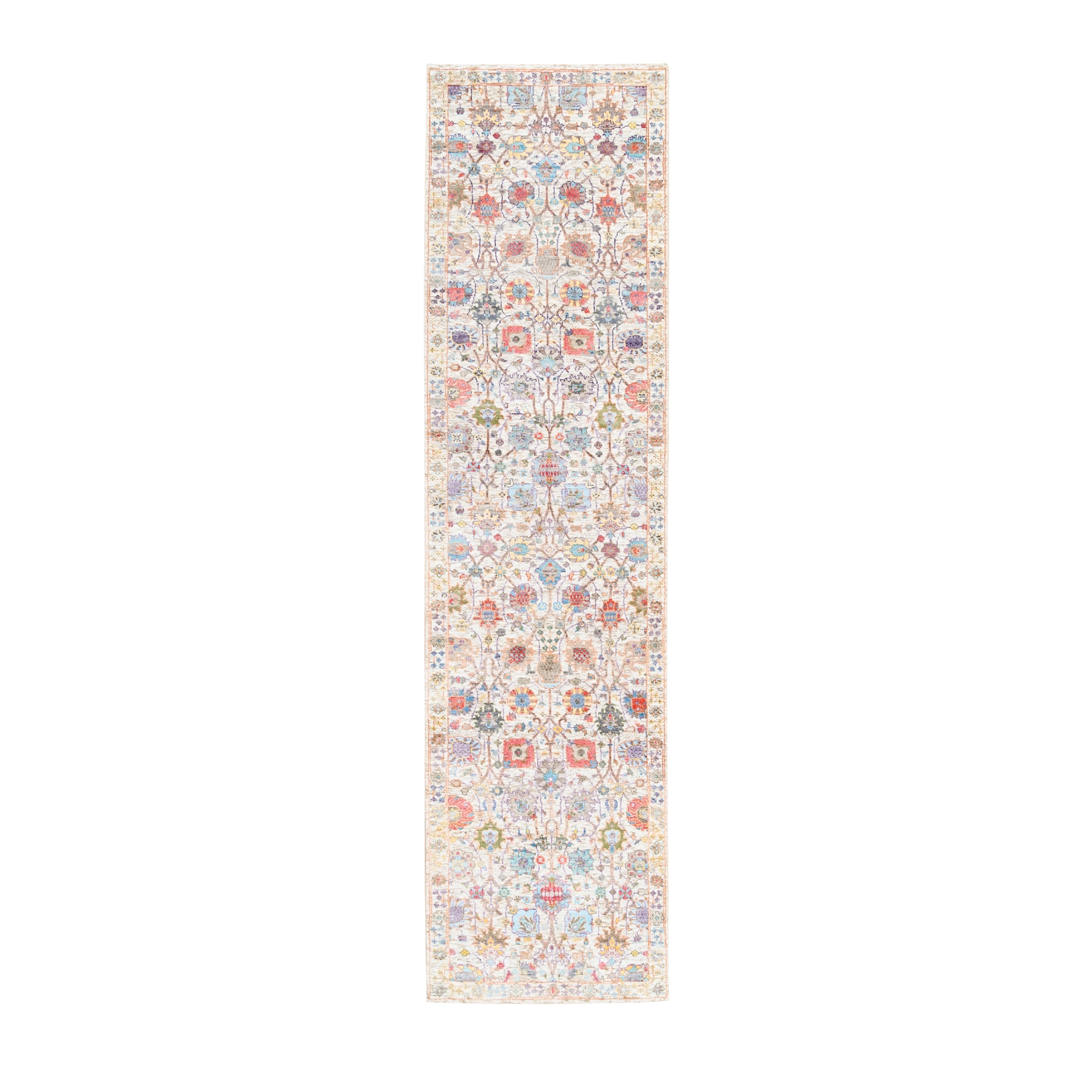 Transitional Hand Knotted Ivory Rug No: 1124580