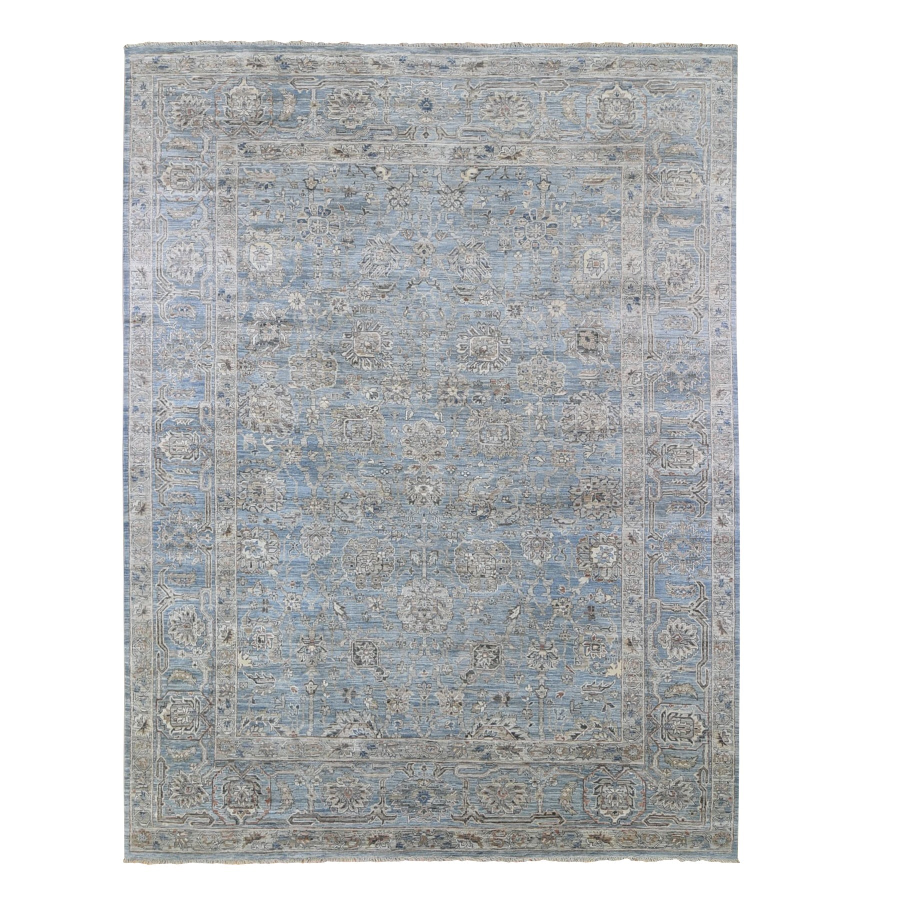 Agra And Turkish Collection Hand Knotted Blue Rug No: 1132956