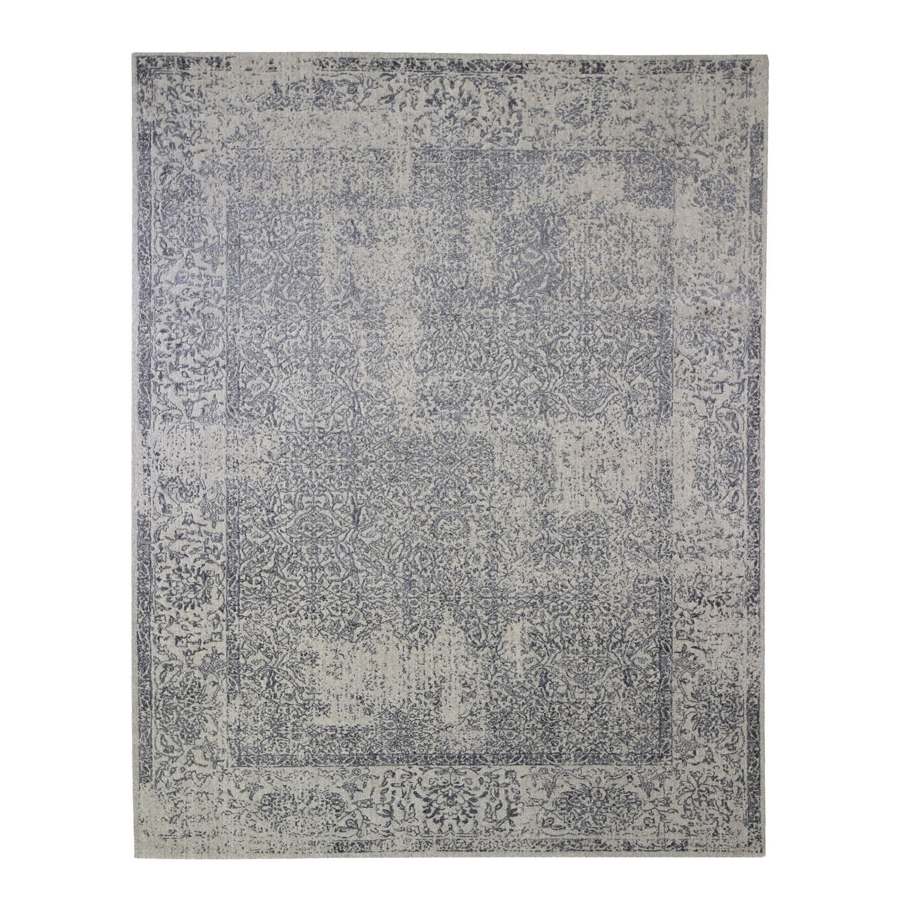 Mid Century Modern Collection Hand Loomed Grey Rug No: 1132876