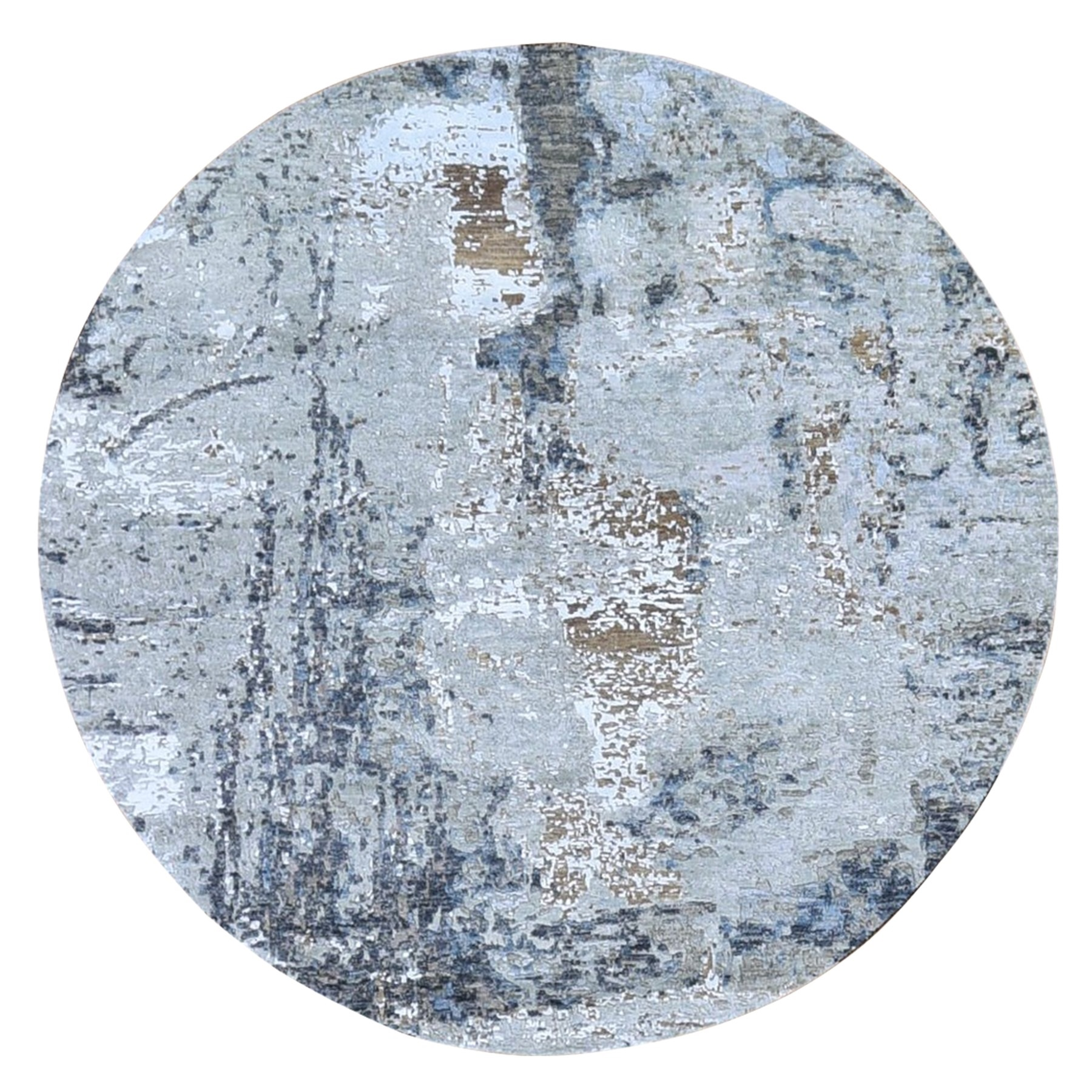 Mid Century Modern Collection Hand Knotted Grey Rug No: 1132944