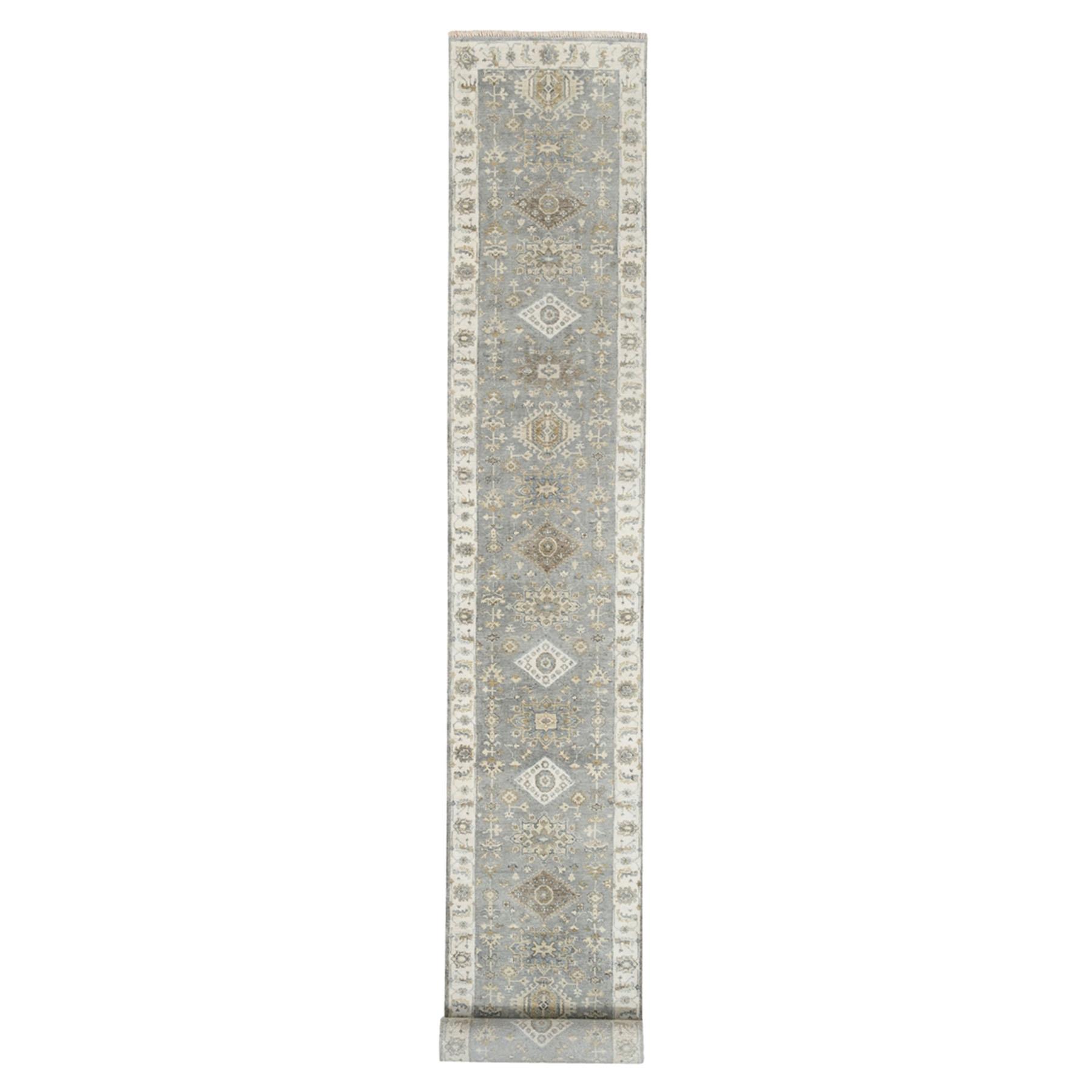 Serapi Heriz and Bakhshayesh Collection Hand Knotted Grey Rug No: 1125292