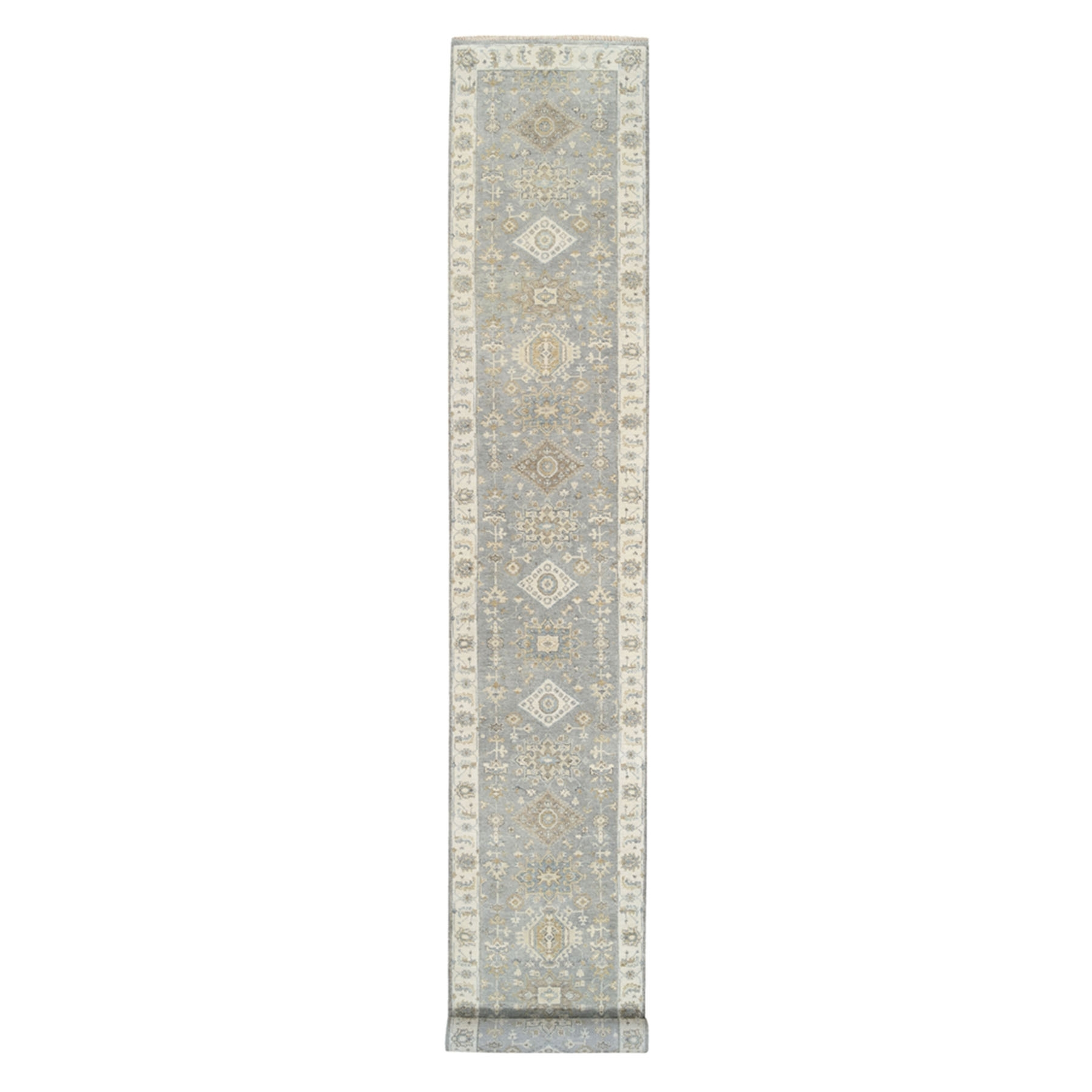 Serapi Heriz and Bakhshayesh Collection Hand Knotted Grey Rug No: 1125290