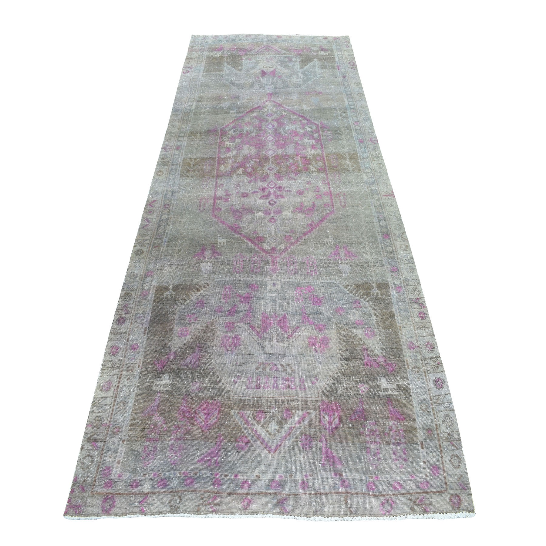 Fetneh Collection And Vintage Overdyed Collection Hand Knotted Pink Rug No: 1105126