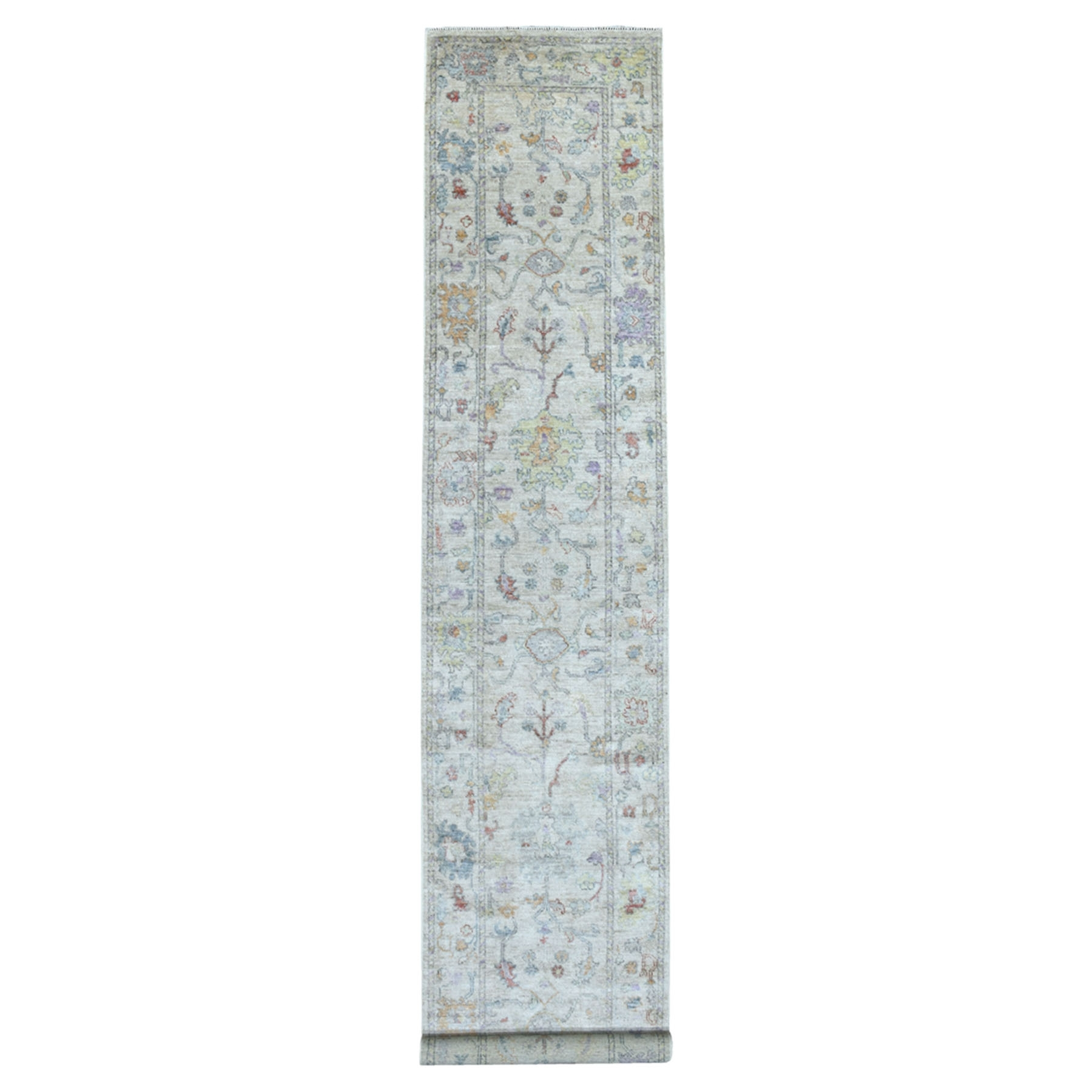 Agra And Turkish Collection Hand Knotted Grey Rug No: 1135194