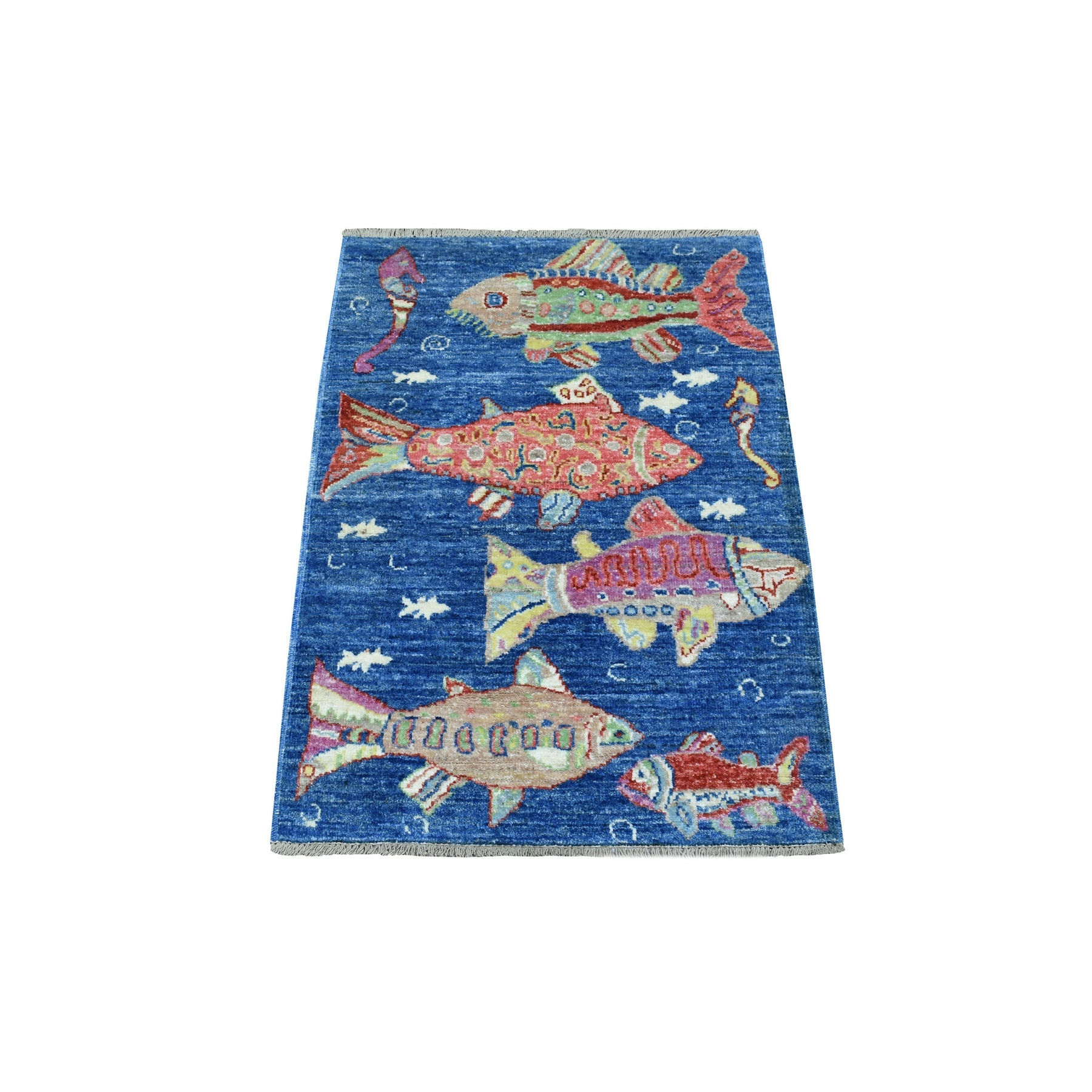 Agra And Turkish Collection Hand Knotted Blue Rug No: 1135258