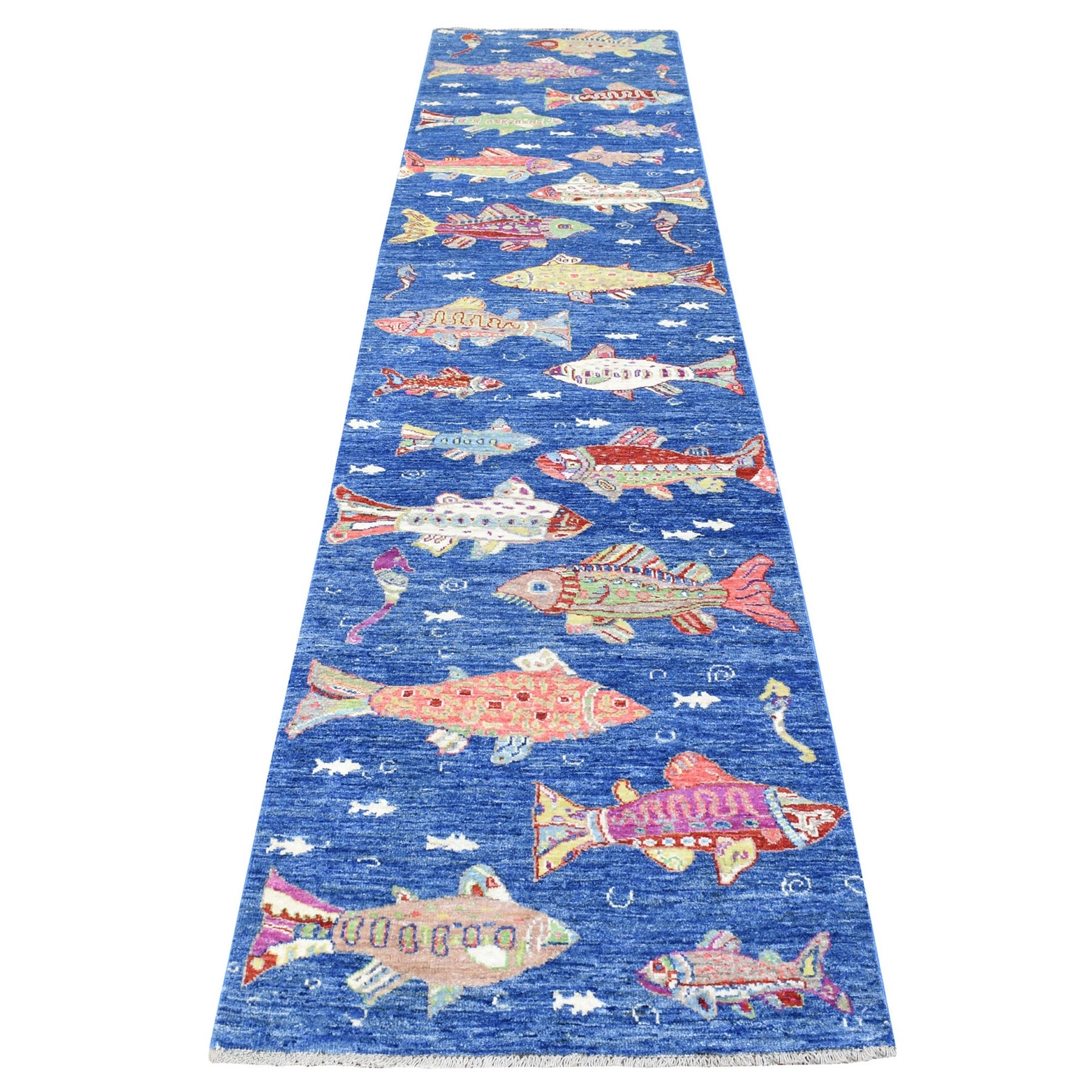 Agra And Turkish Collection Hand Knotted Blue Rug No: 1135270