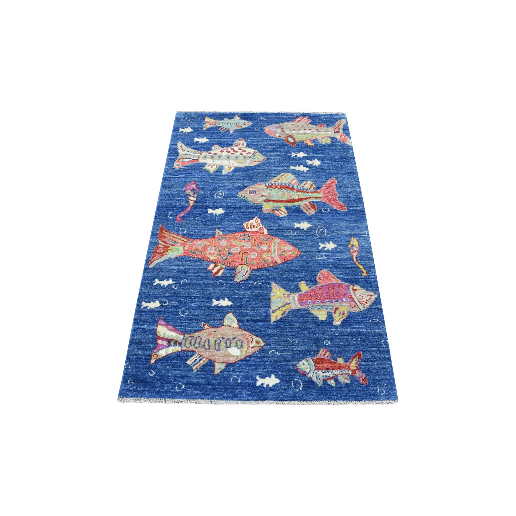 Agra And Turkish Collection Hand Knotted Blue Rug No: 1135272