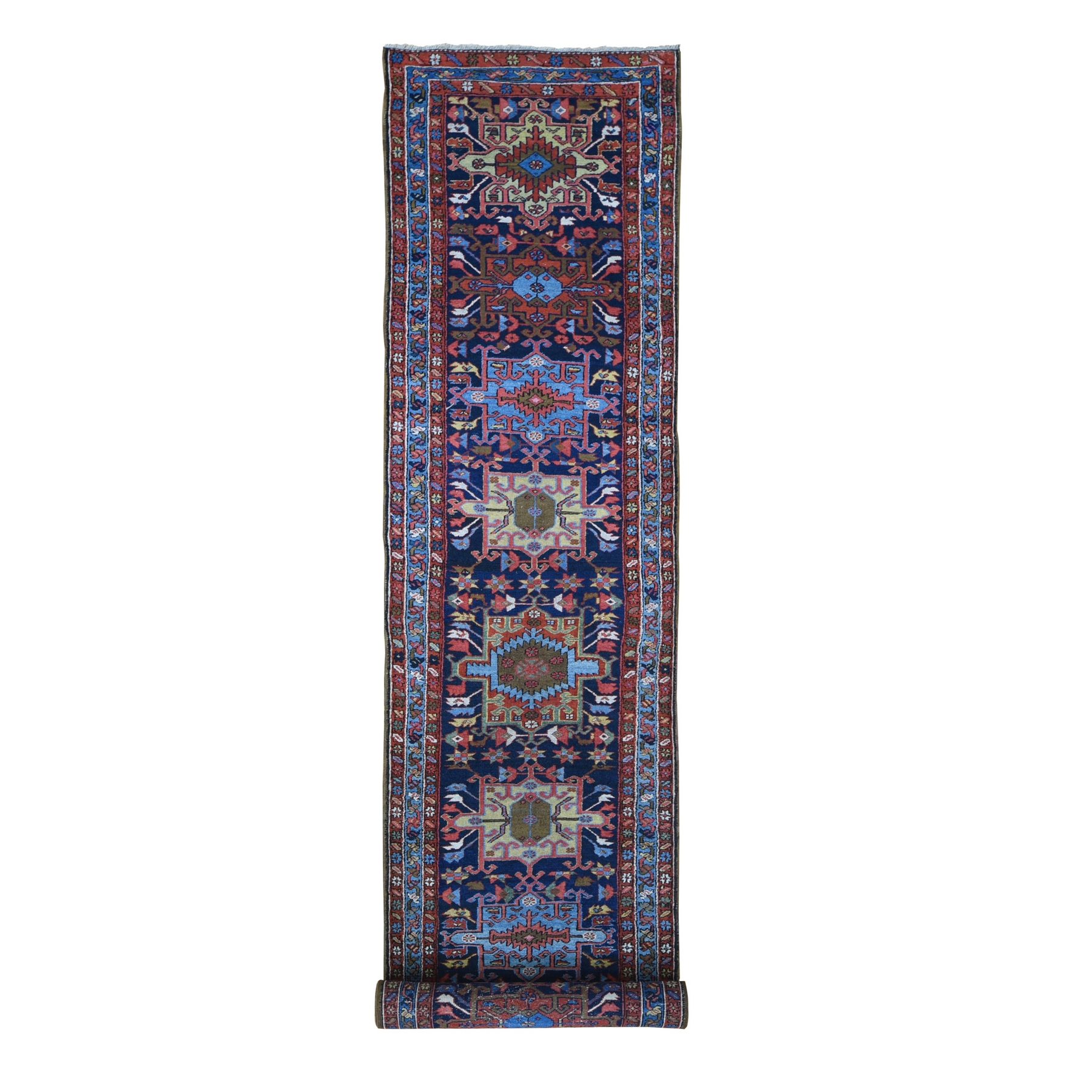 Antique Collection Hand Knotted Blue Rug No: 1133196