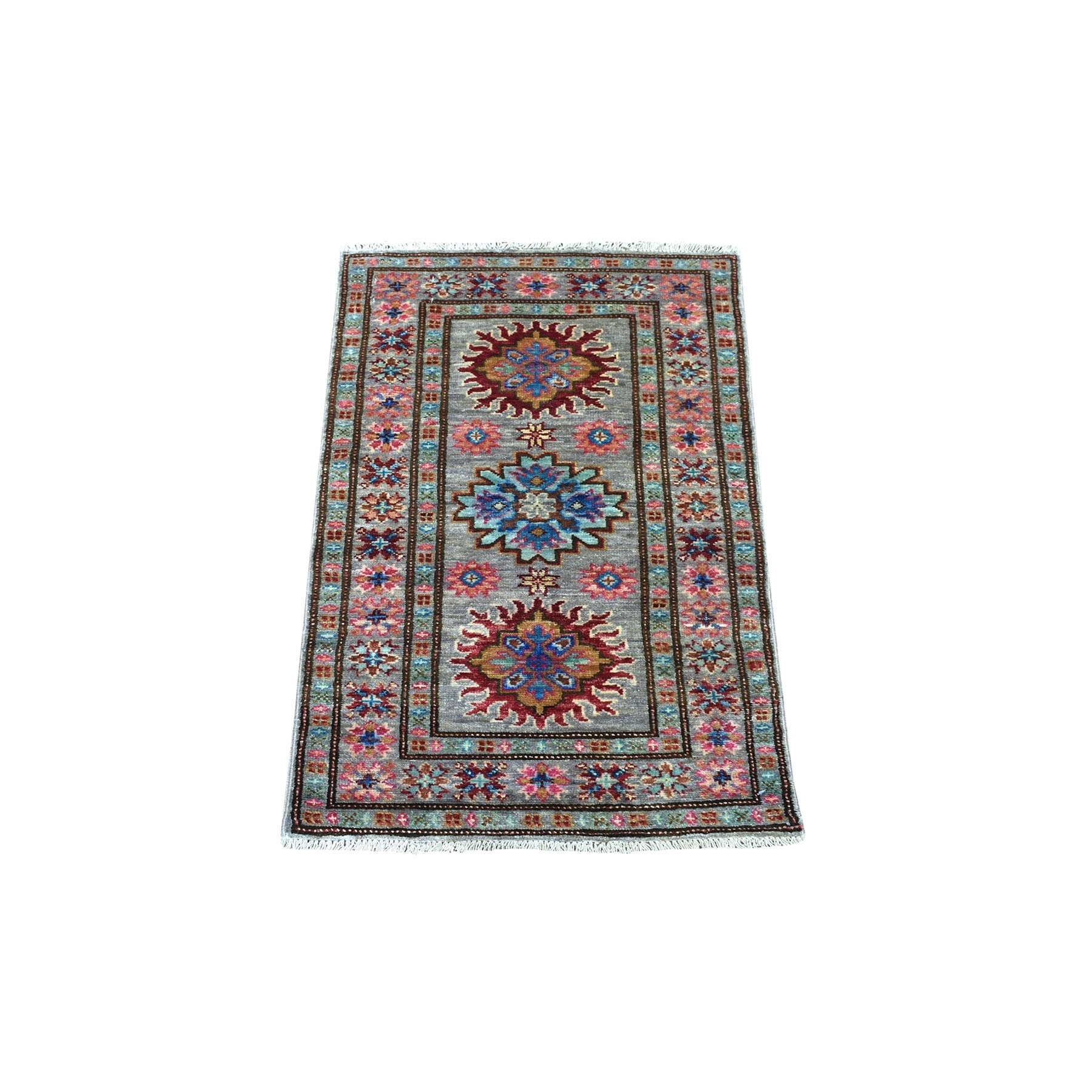 Caucasian Collection Hand Knotted Green Rug No: 1135670