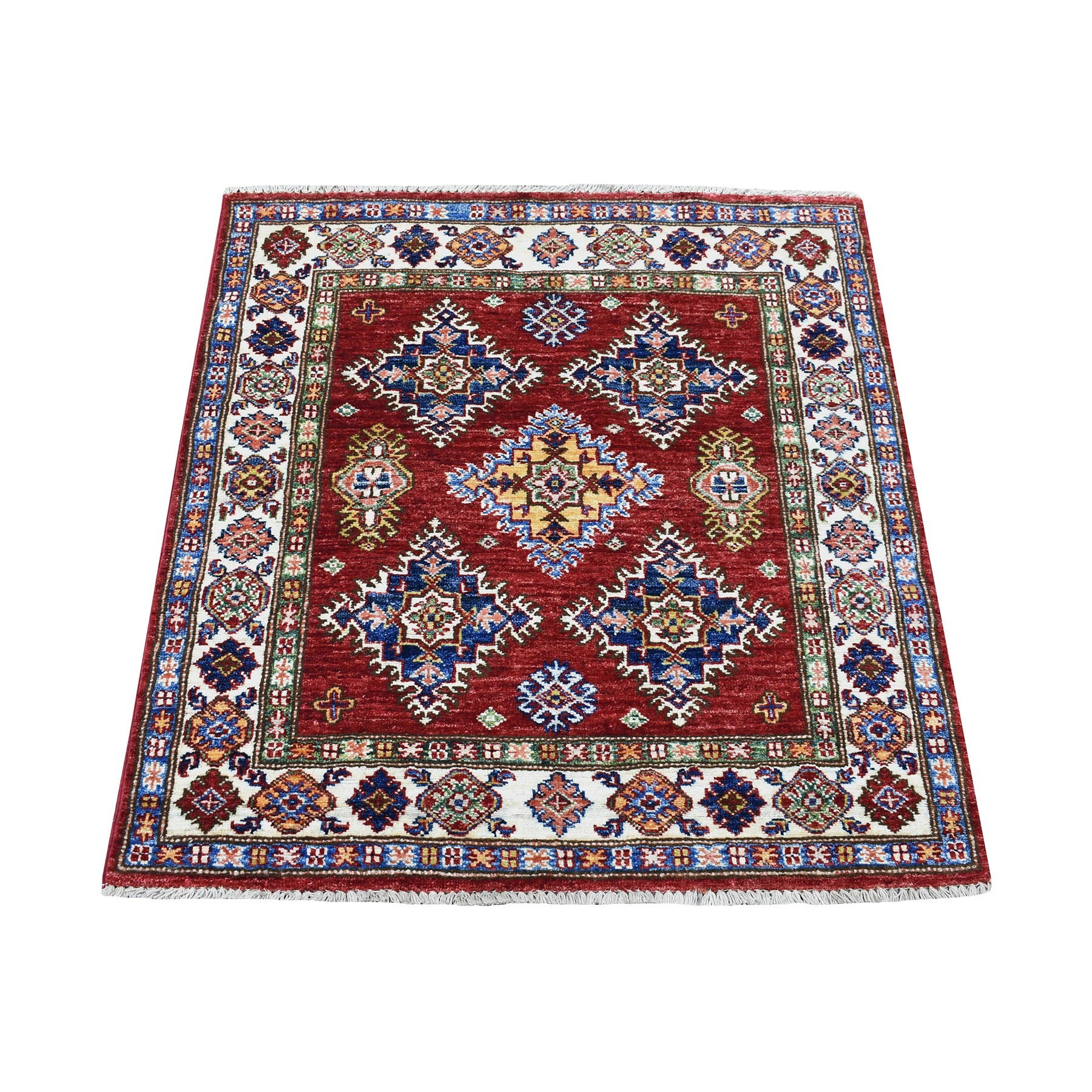 Caucasian Collection Hand Knotted Red Rug No: 1135676