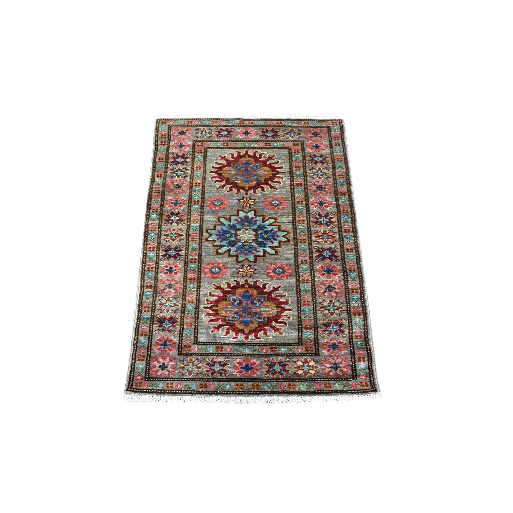 Caucasian Collection Hand Knotted Green Rug No: 1135680