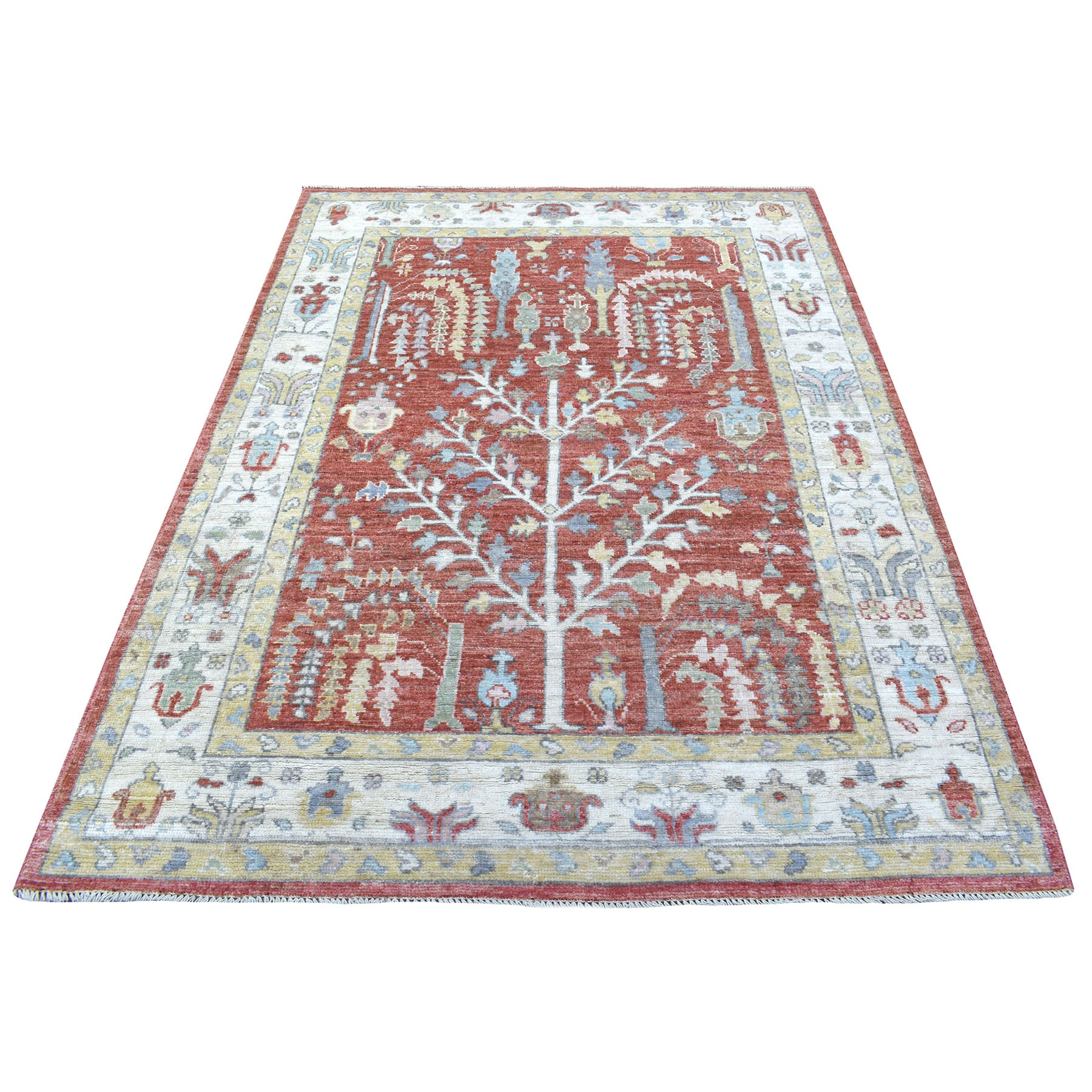 Agra And Turkish Collection Hand Knotted Red Rug No: 1135728