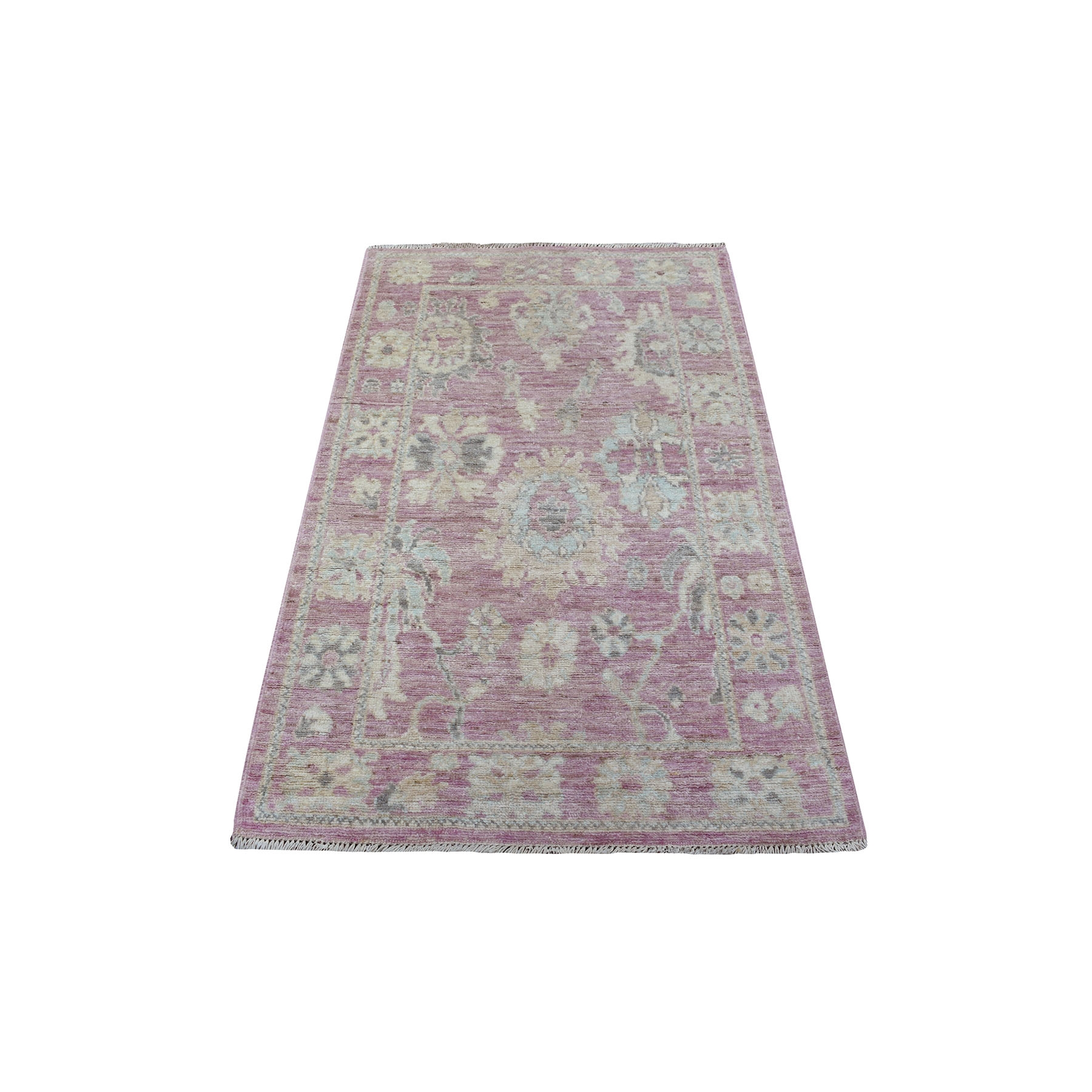Agra And Turkish Collection Hand Knotted Pink Rug No: 1135730