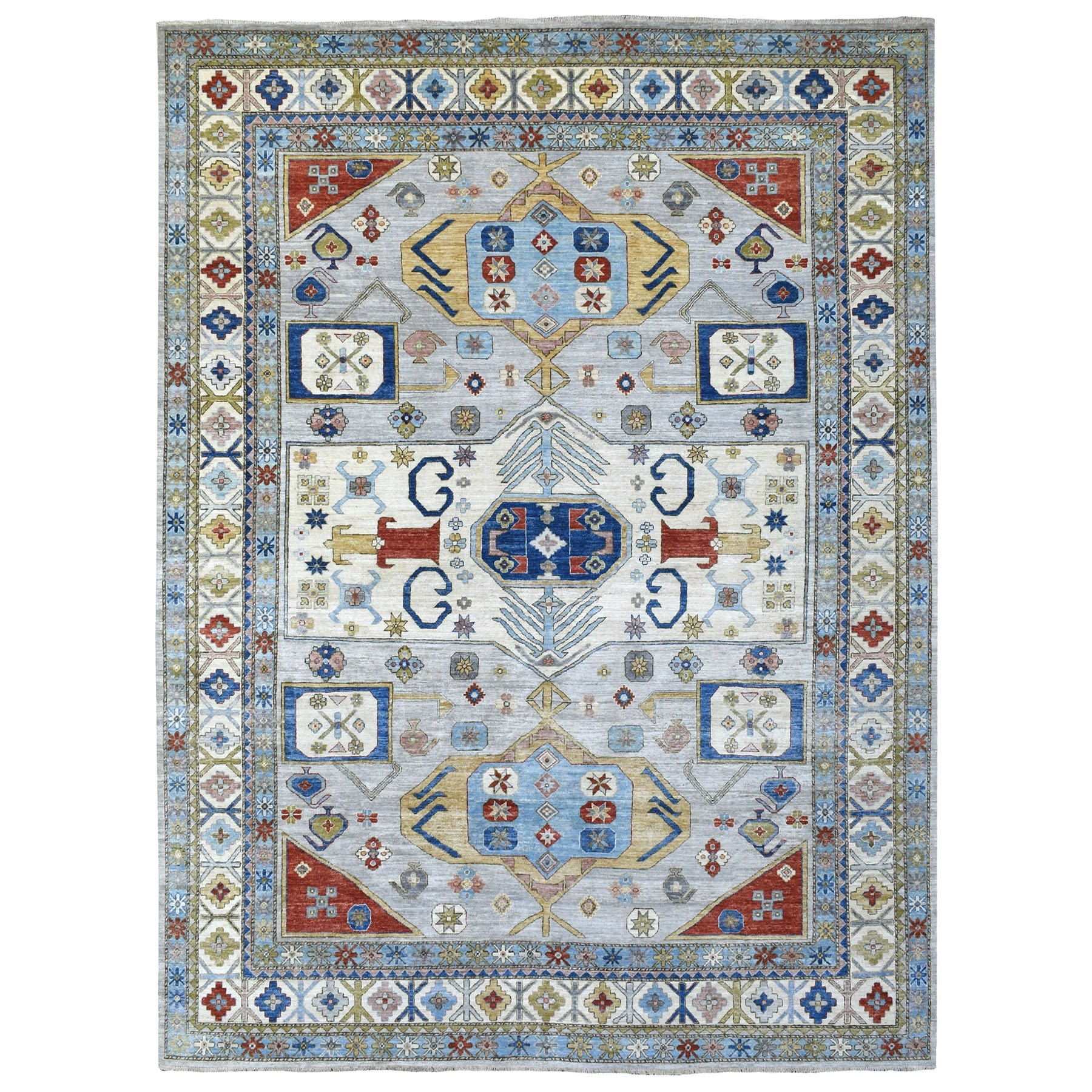 Agra And Turkish Collection Hand Knotted Grey Rug No: 1135800