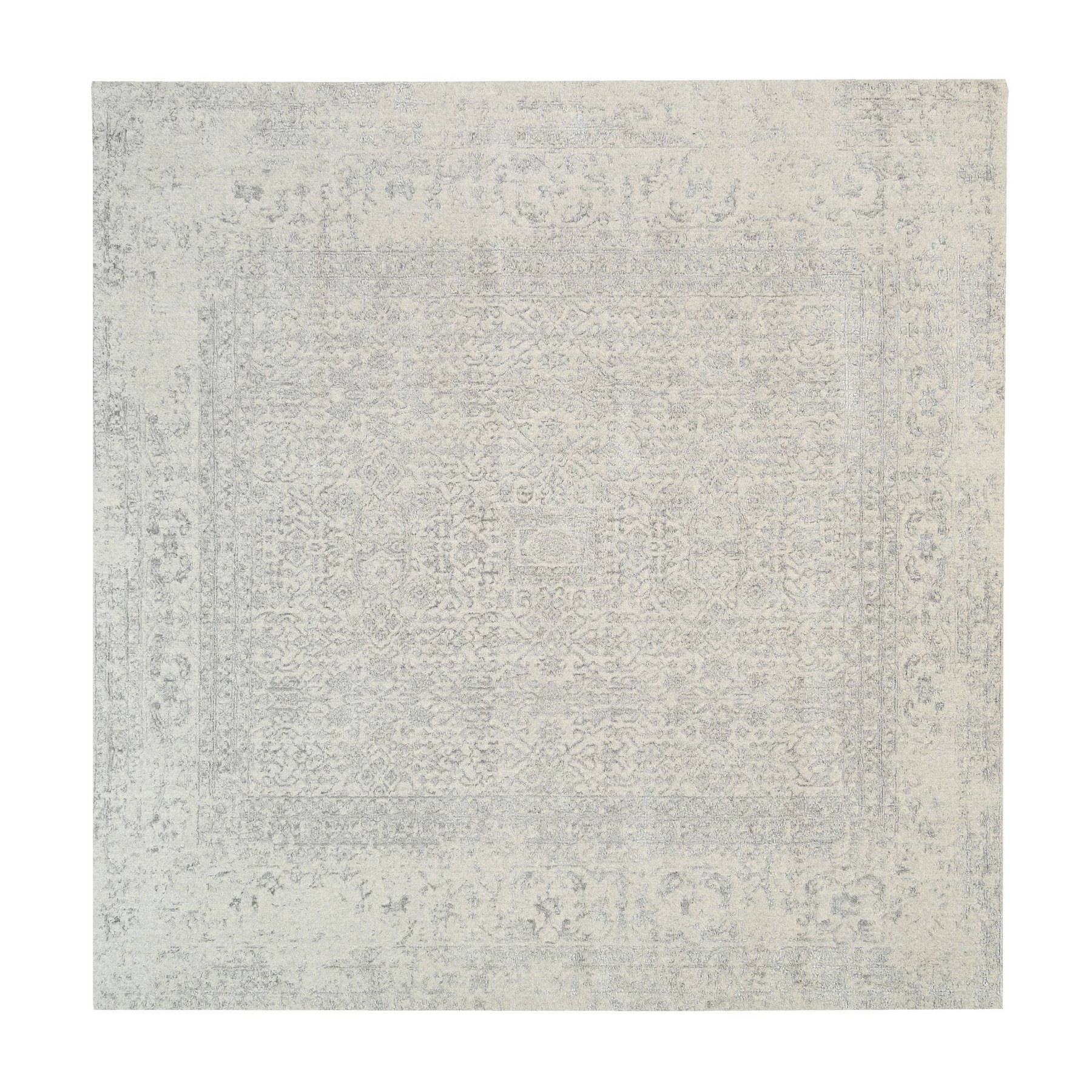 Mid Century Modern Collection Hand Loomed Grey Rug No: 1125734
