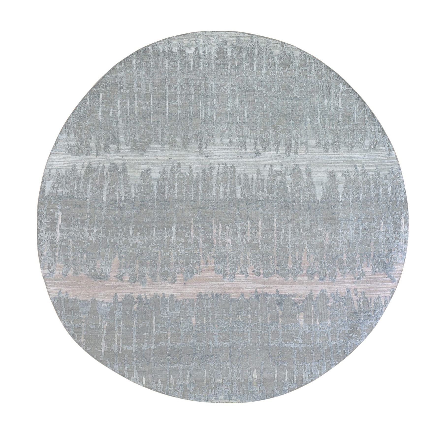 Mid Century Modern Collection Hand Knotted Grey Rug No: 1133414