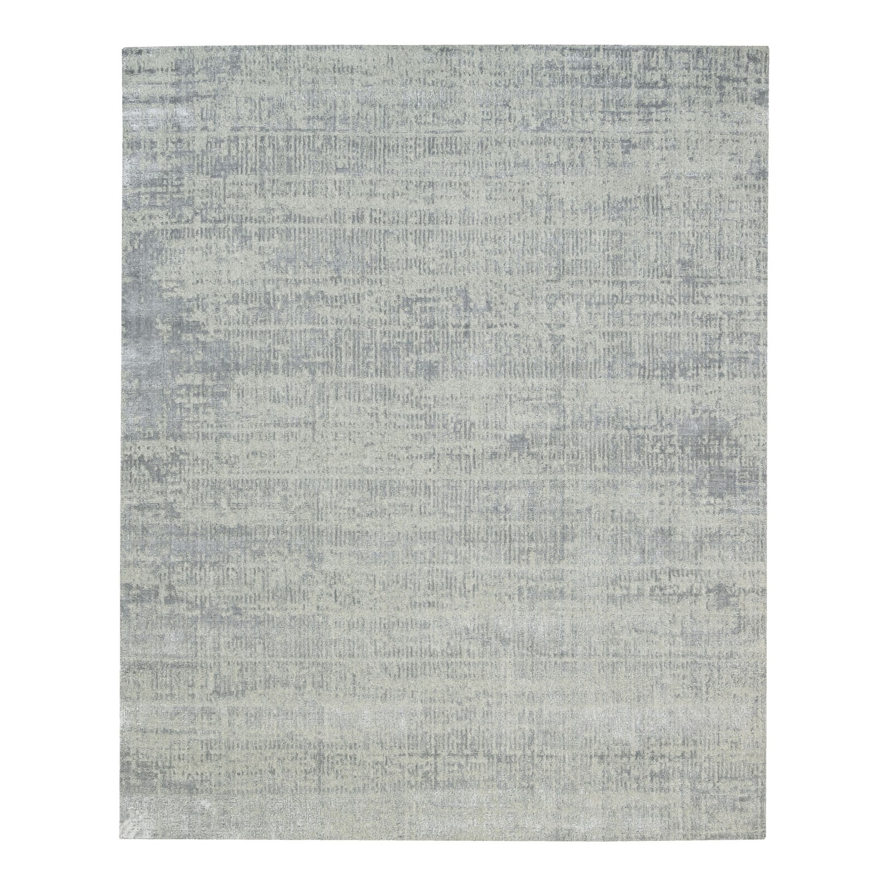 Mid Century Modern Collection Hand Loomed Grey Rug No: 1125736