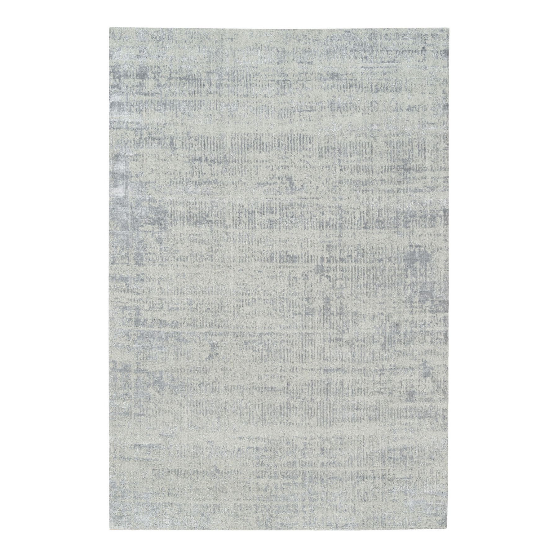 Mid Century Modern Collection Hand Loomed Grey Rug No: 1125746