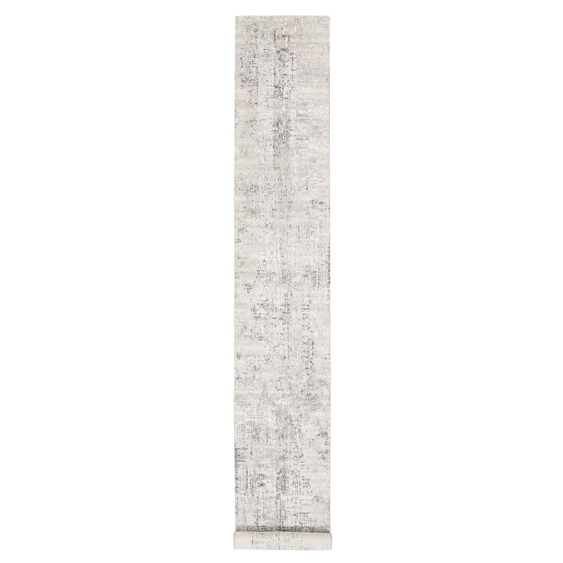 Mid Century Modern Collection Hand Knotted Grey Rug No: 1125874
