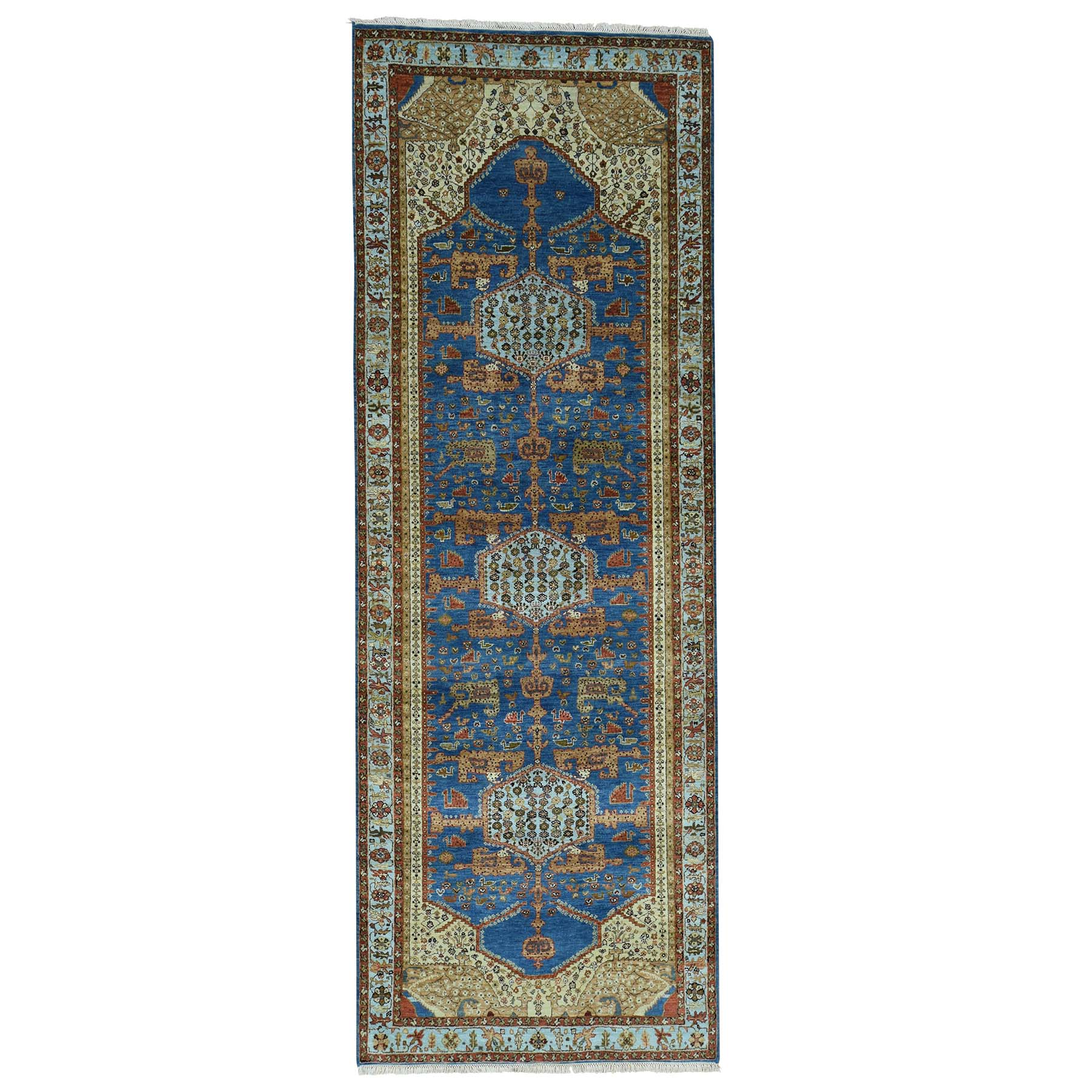 Serapi Heriz and Bakhshayesh Collection Hand Knotted Blue Rug No: 0171658