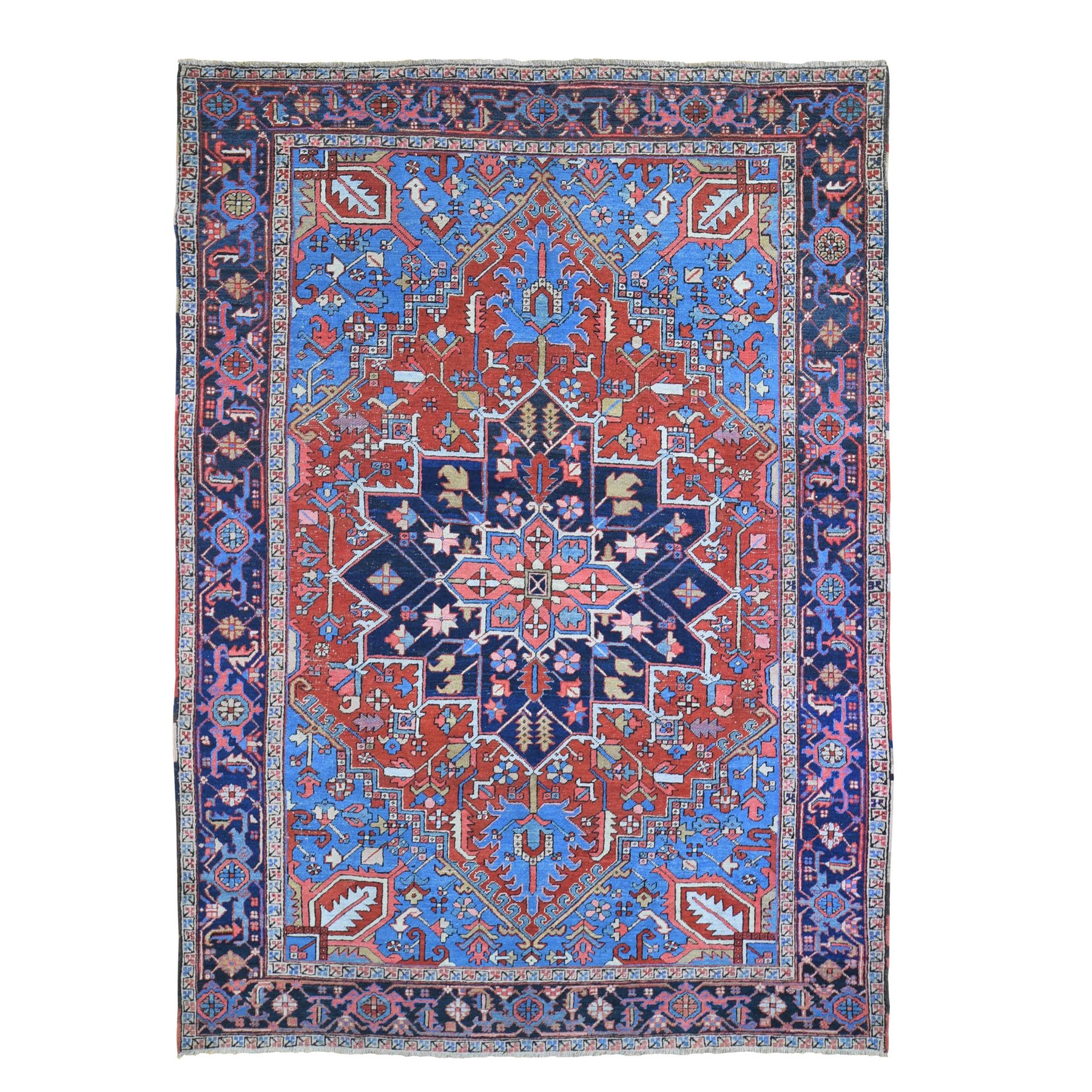 Antique Collection Hand Knotted Red Rug No: 1133378