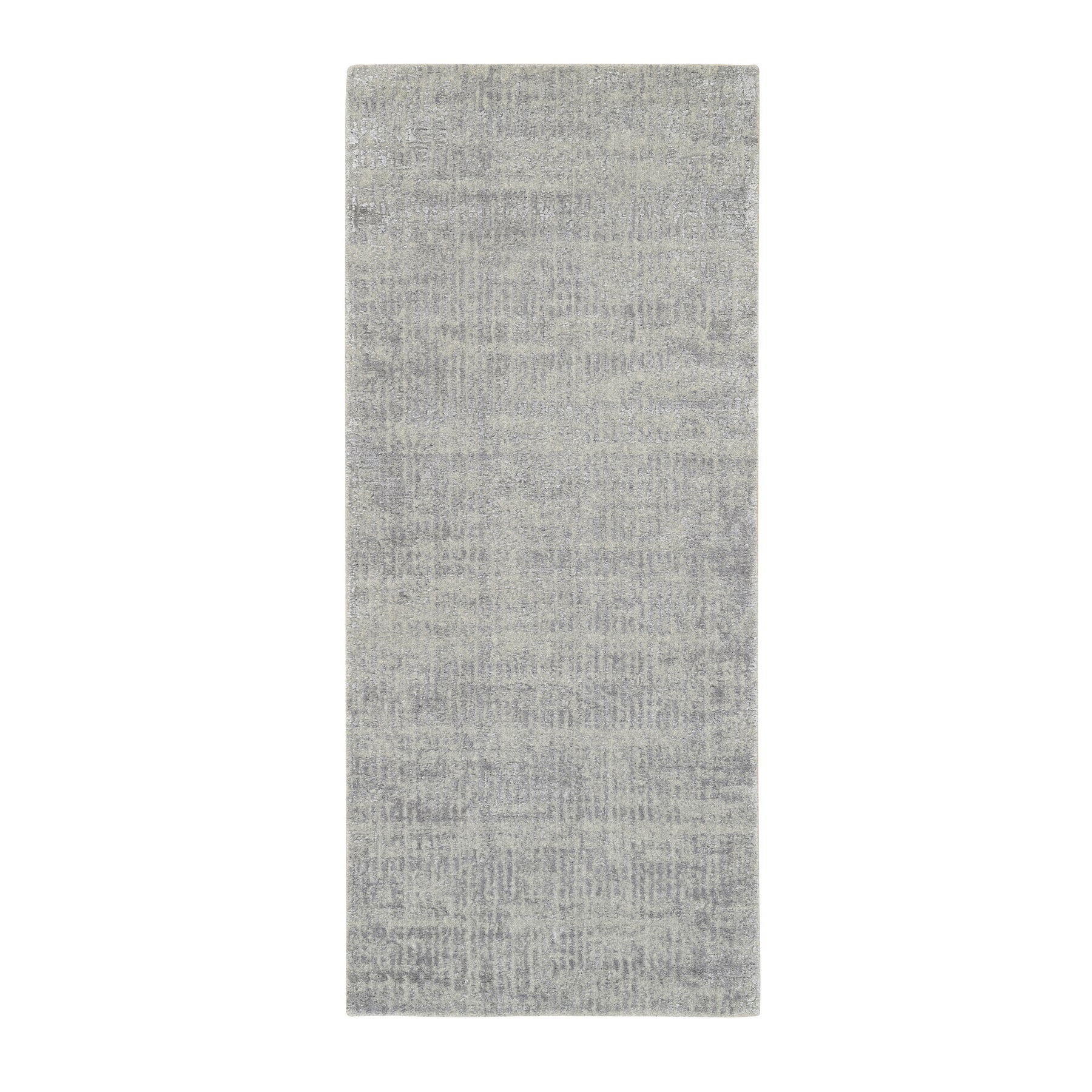 Mid Century Modern Collection Hand Loomed Grey Rug No: 1125702