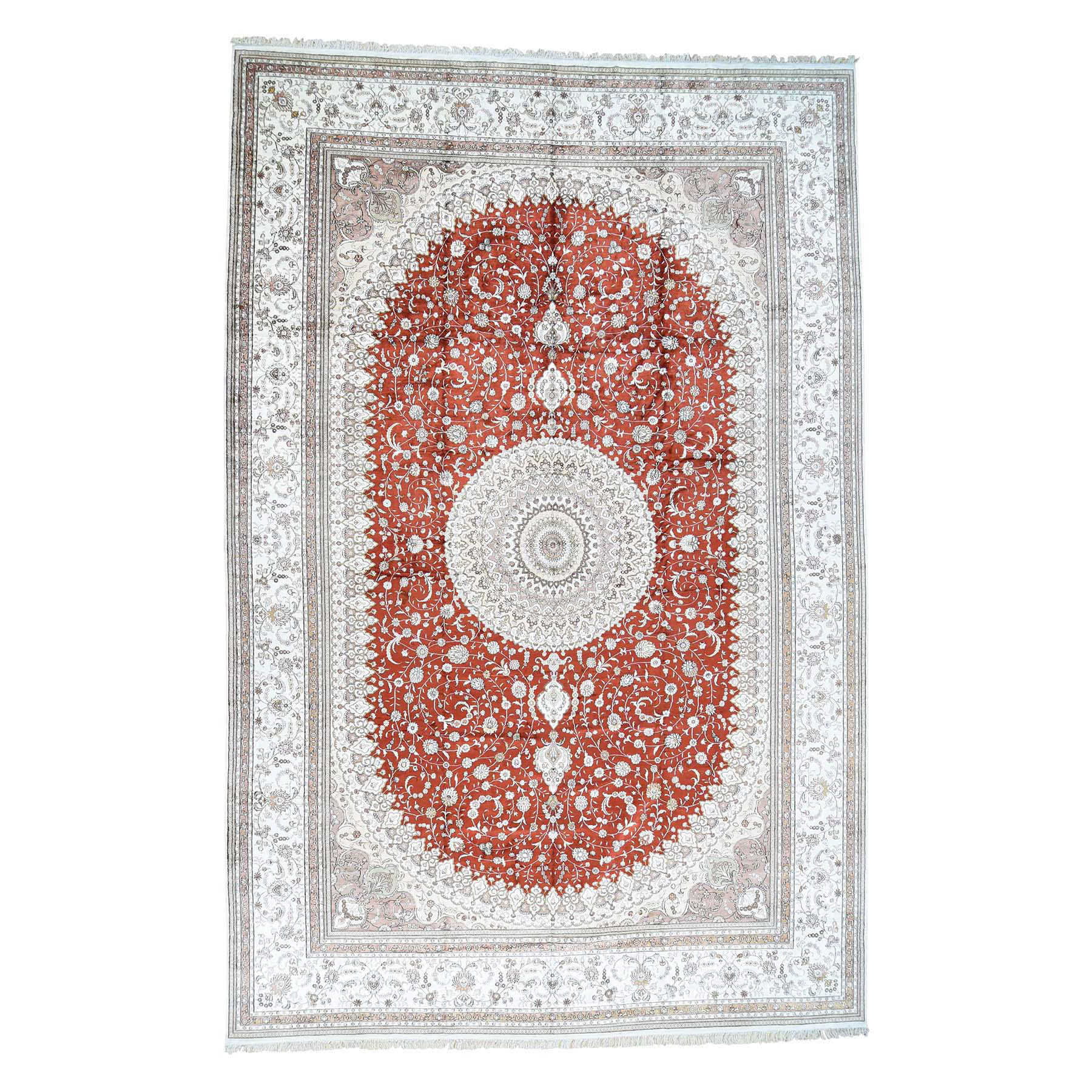 Real Silk Collection Hand Knotted Red Rug No: 0171642