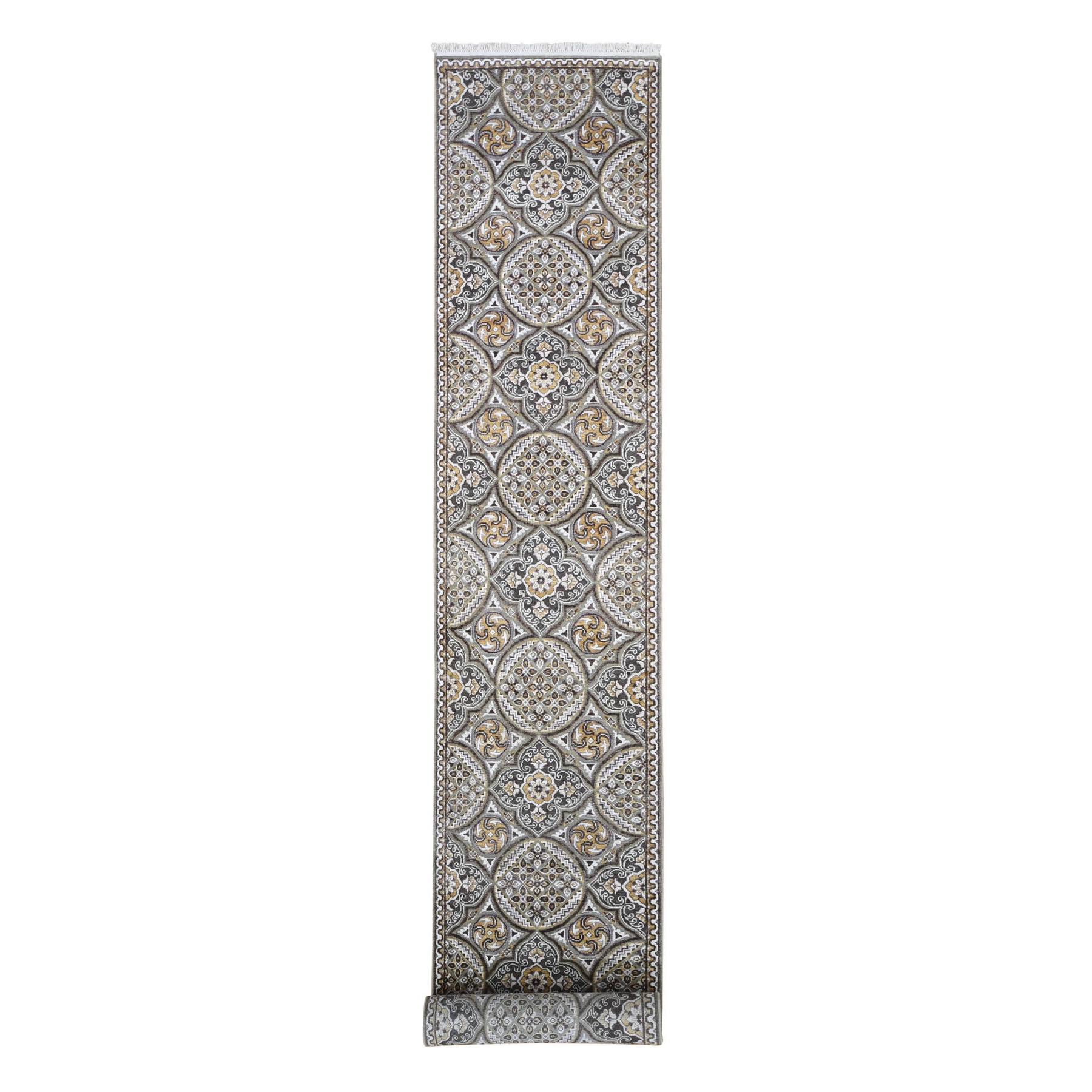 Transitional Hand Knotted Grey Rug No: 1133448