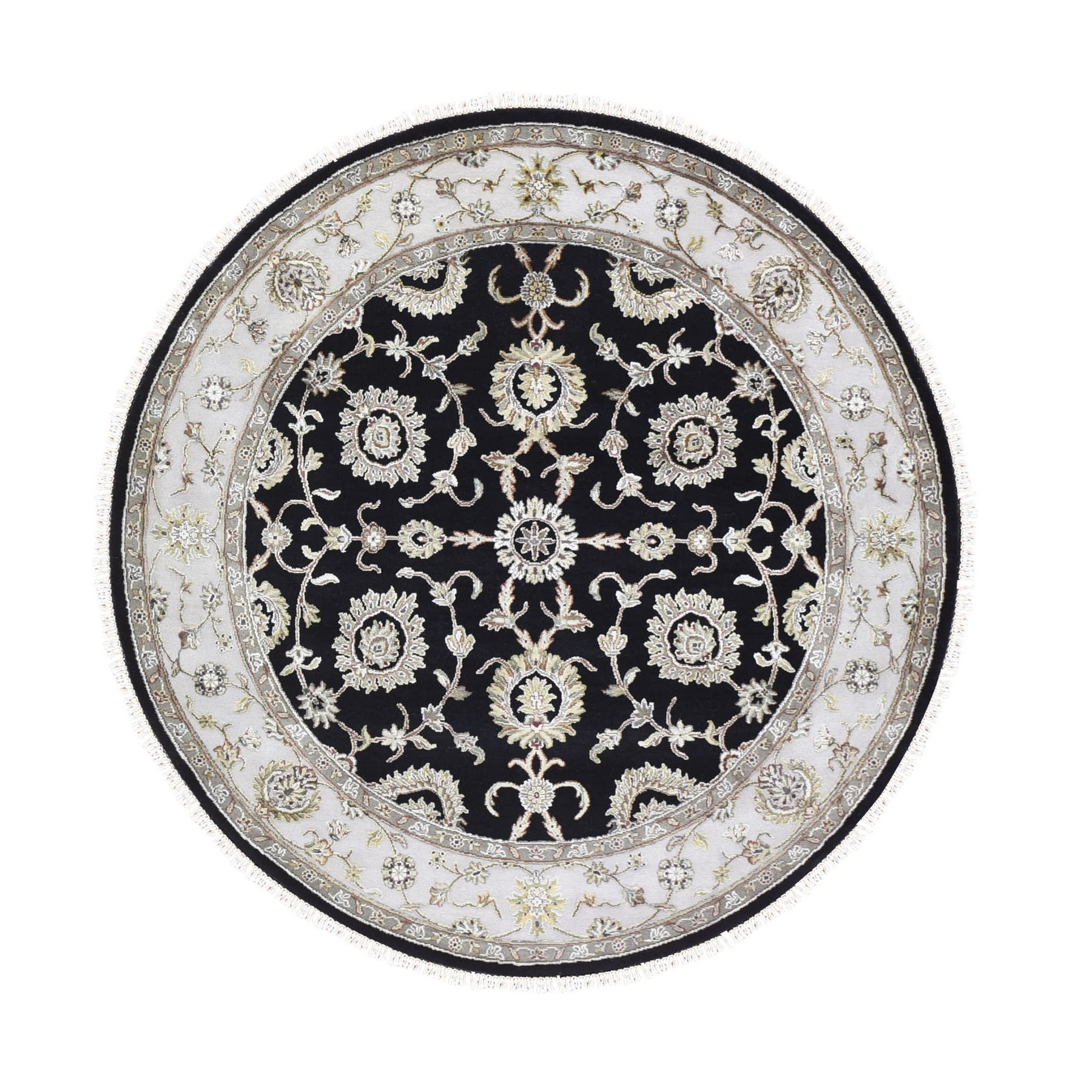 Pahlavi Collection Hand Knotted Black Rug No: 1133454
