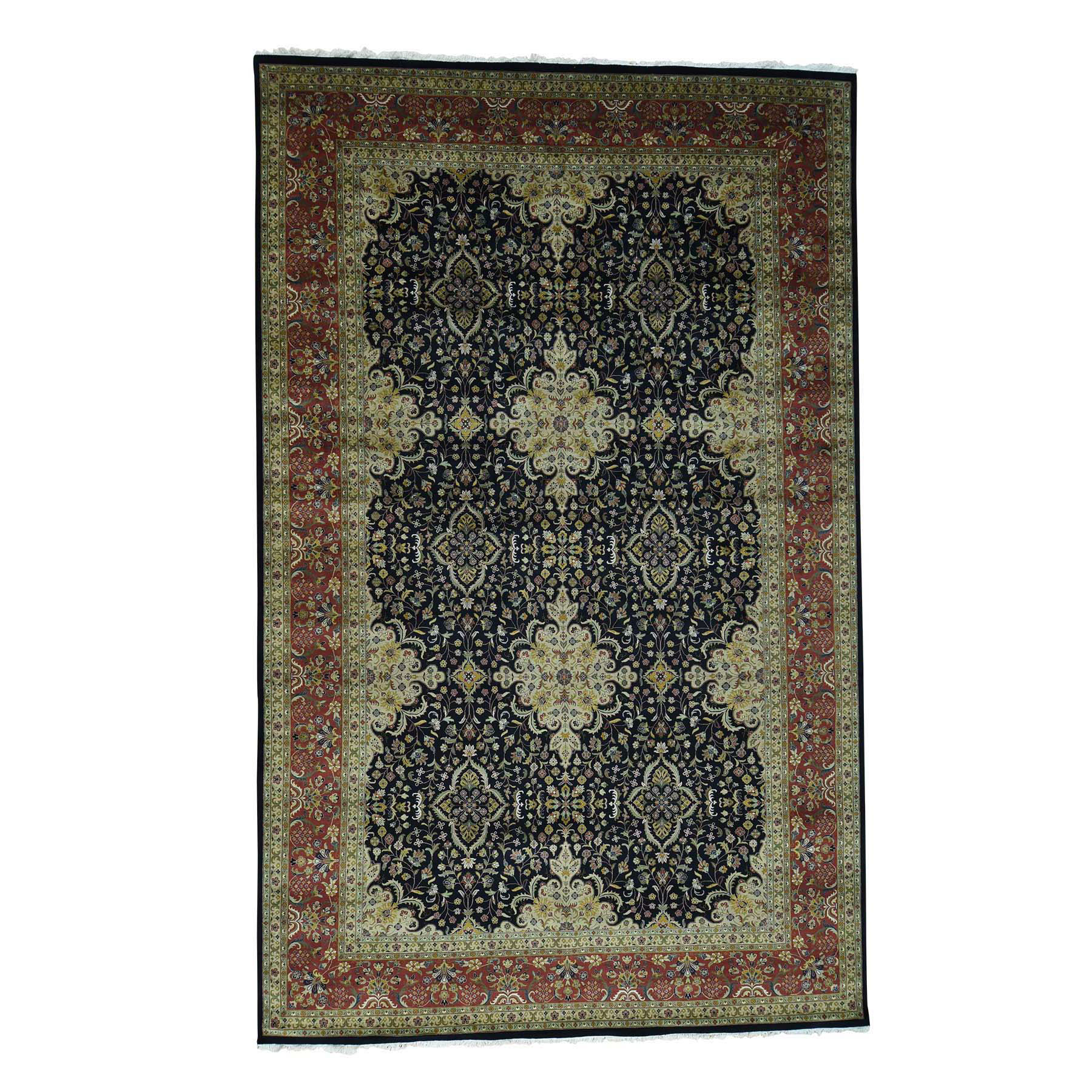 Pirniakan Collection Hand Knotted Black Rug No: 0171902