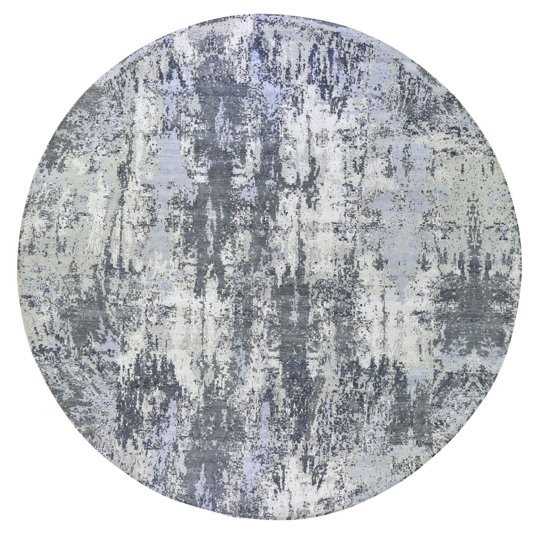 Mid Century Modern Collection Hand Knotted Grey Rug No: 1133466