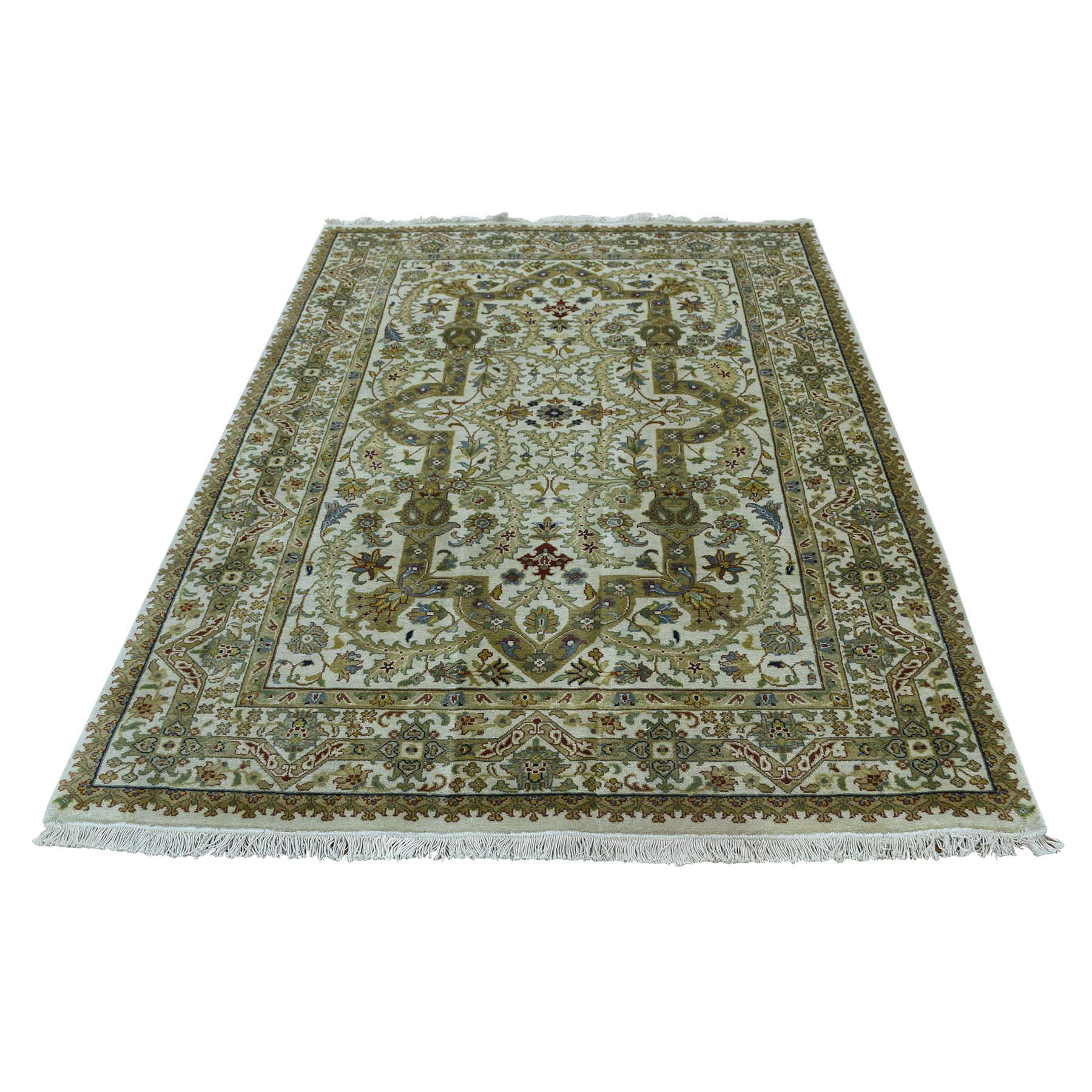 Pirniakan Collection Hand Knotted Ivory Rug No: 0171908