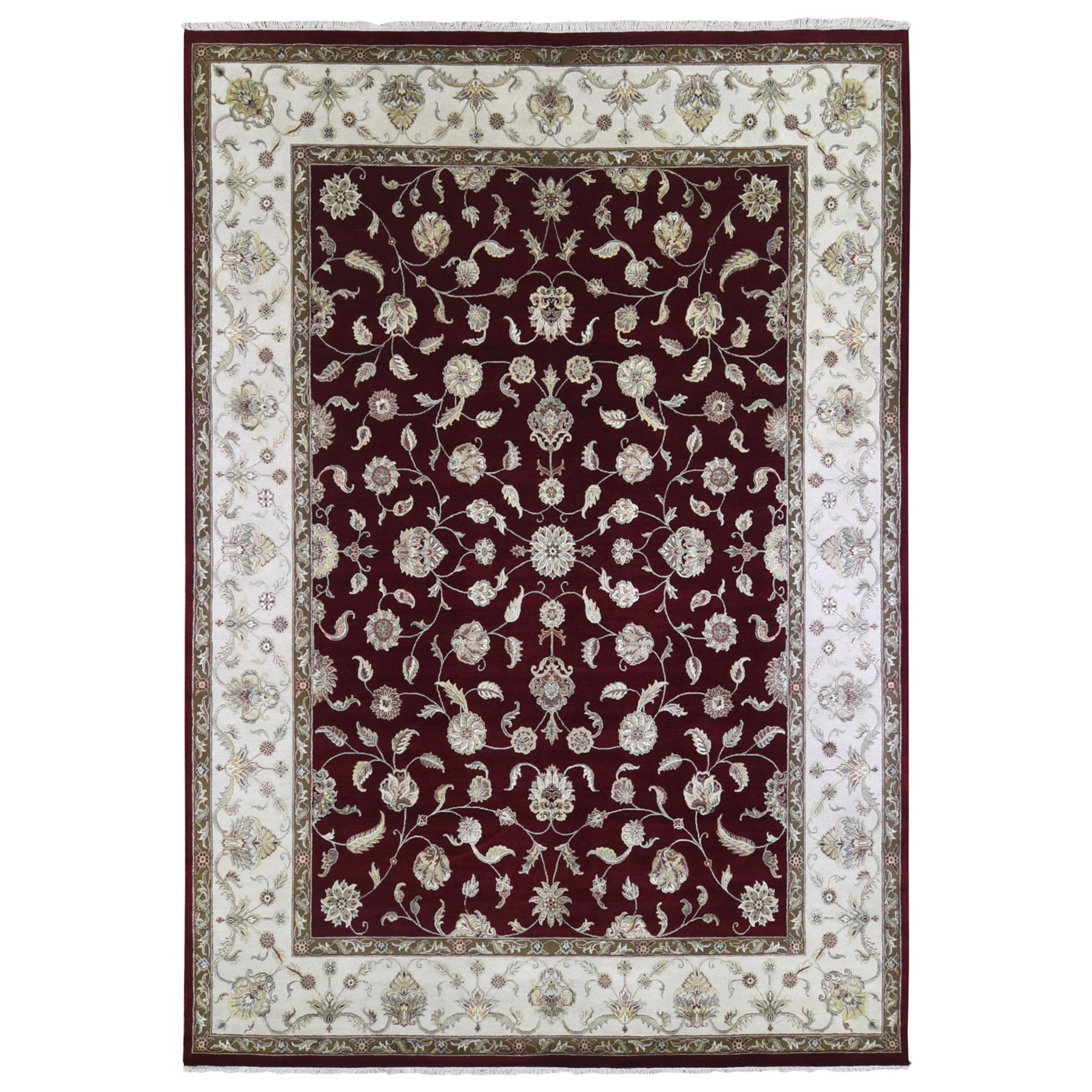 Pahlavi Collection Hand Knotted Red Rug No: 1133486