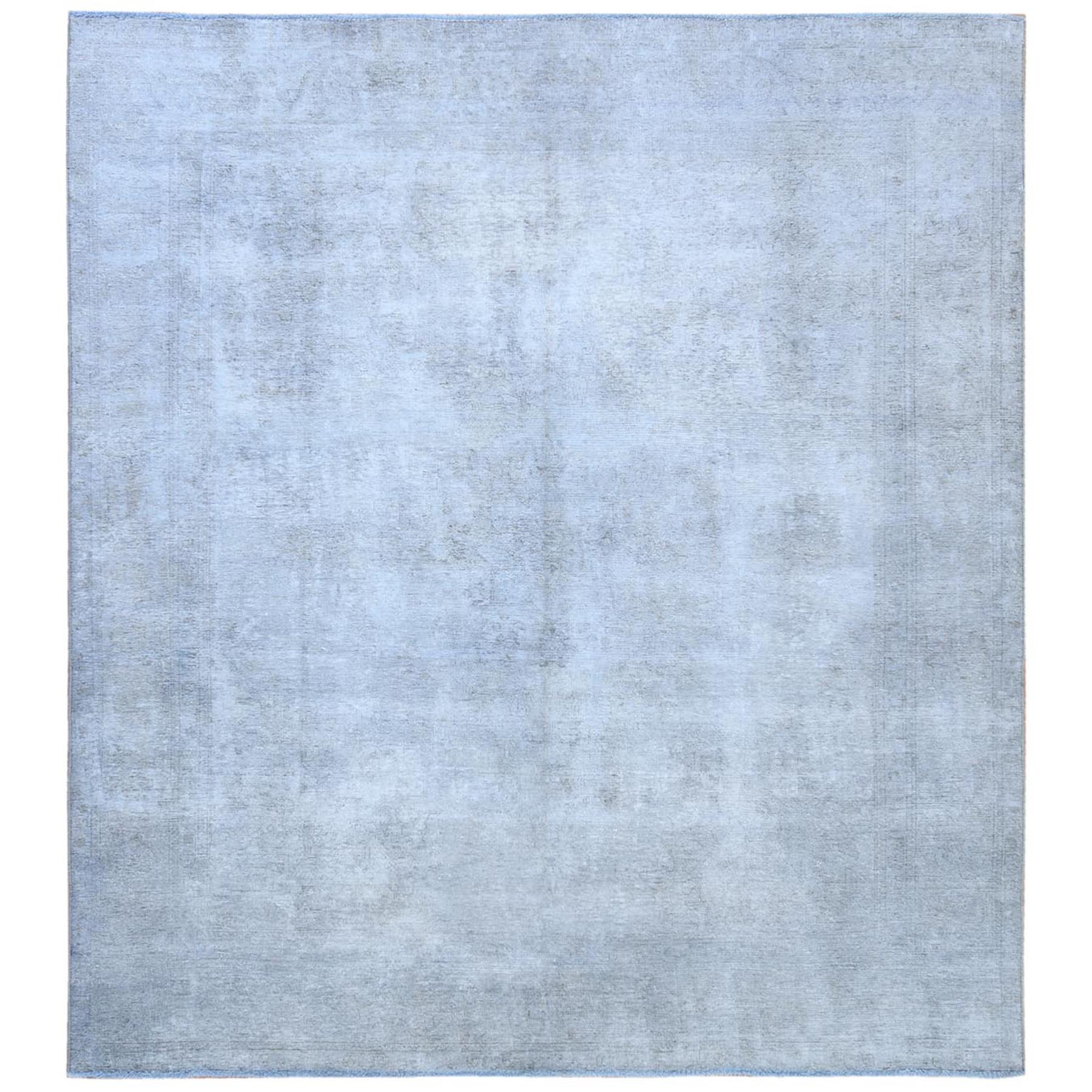 Fetneh Collection And Vintage Overdyed Collection Hand Knotted Blue Rug No: 1121798