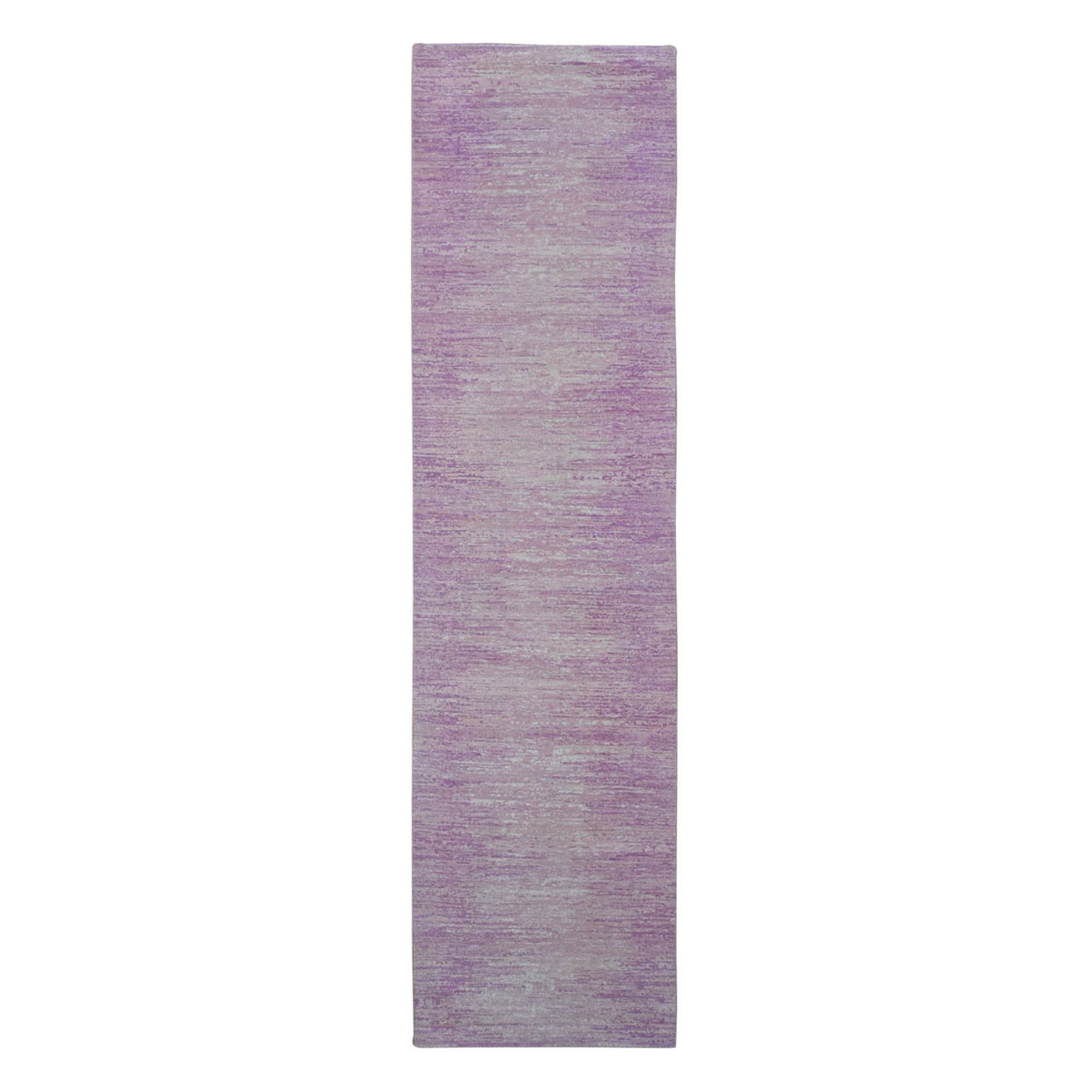 Mid Century Modern Collection Hand Knotted Pink Rug No: 1133516