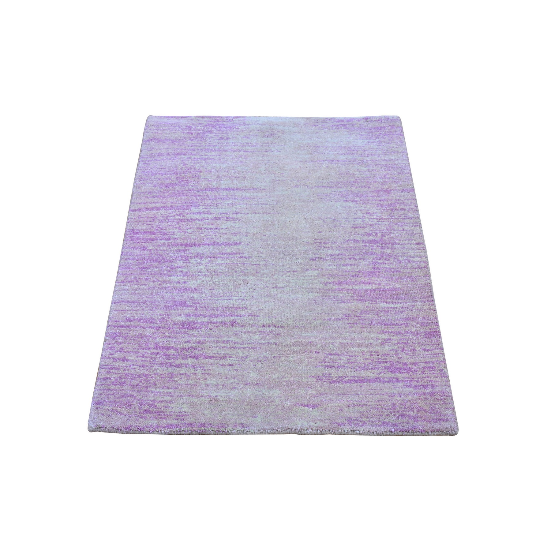 Mid Century Modern Collection Hand Knotted Pink Rug No: 1133518